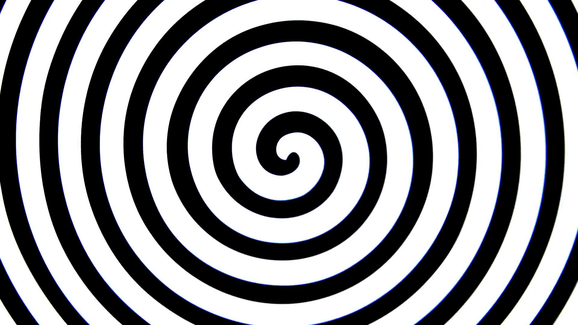 "Hypnotic ""vertigo spiral"" animation, black and white spinning swirl Motion  Background – VideoBlocks"