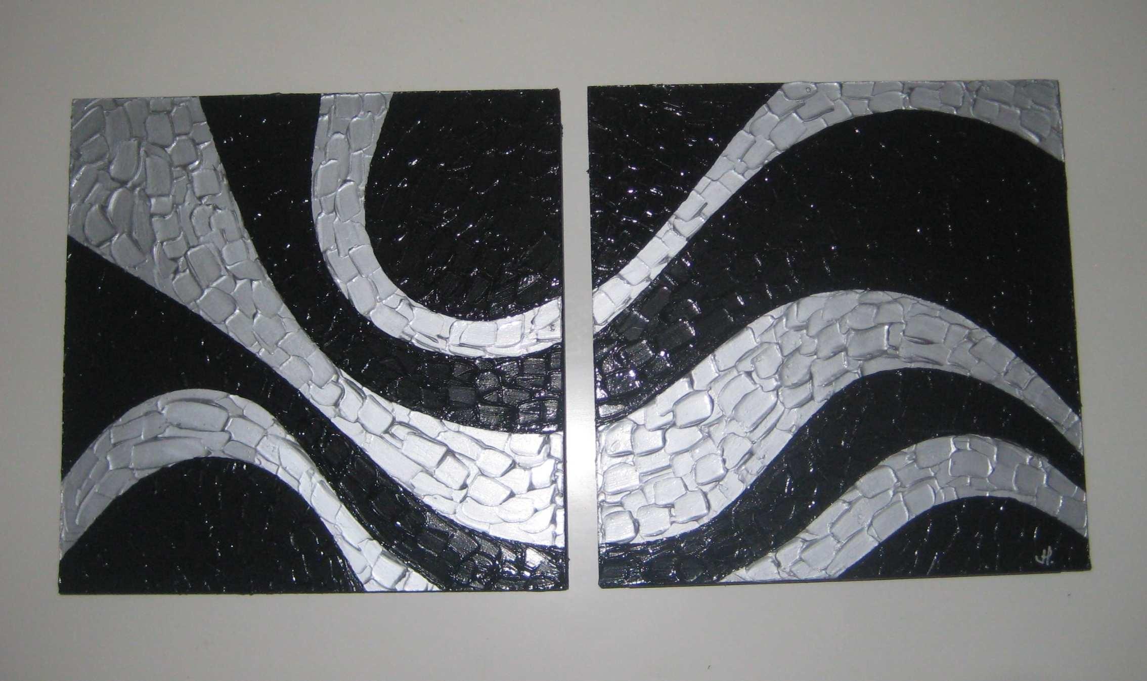 Black And Silver Artwork 20 Wide Wallpaper
