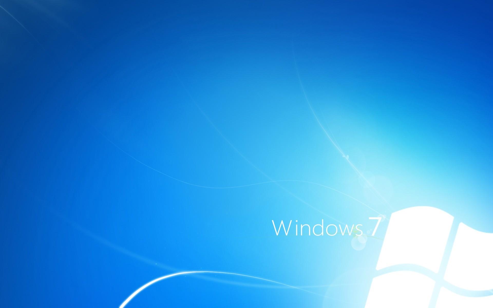 Windows 7 Light Blue Wallpaper Windows Seven Computers