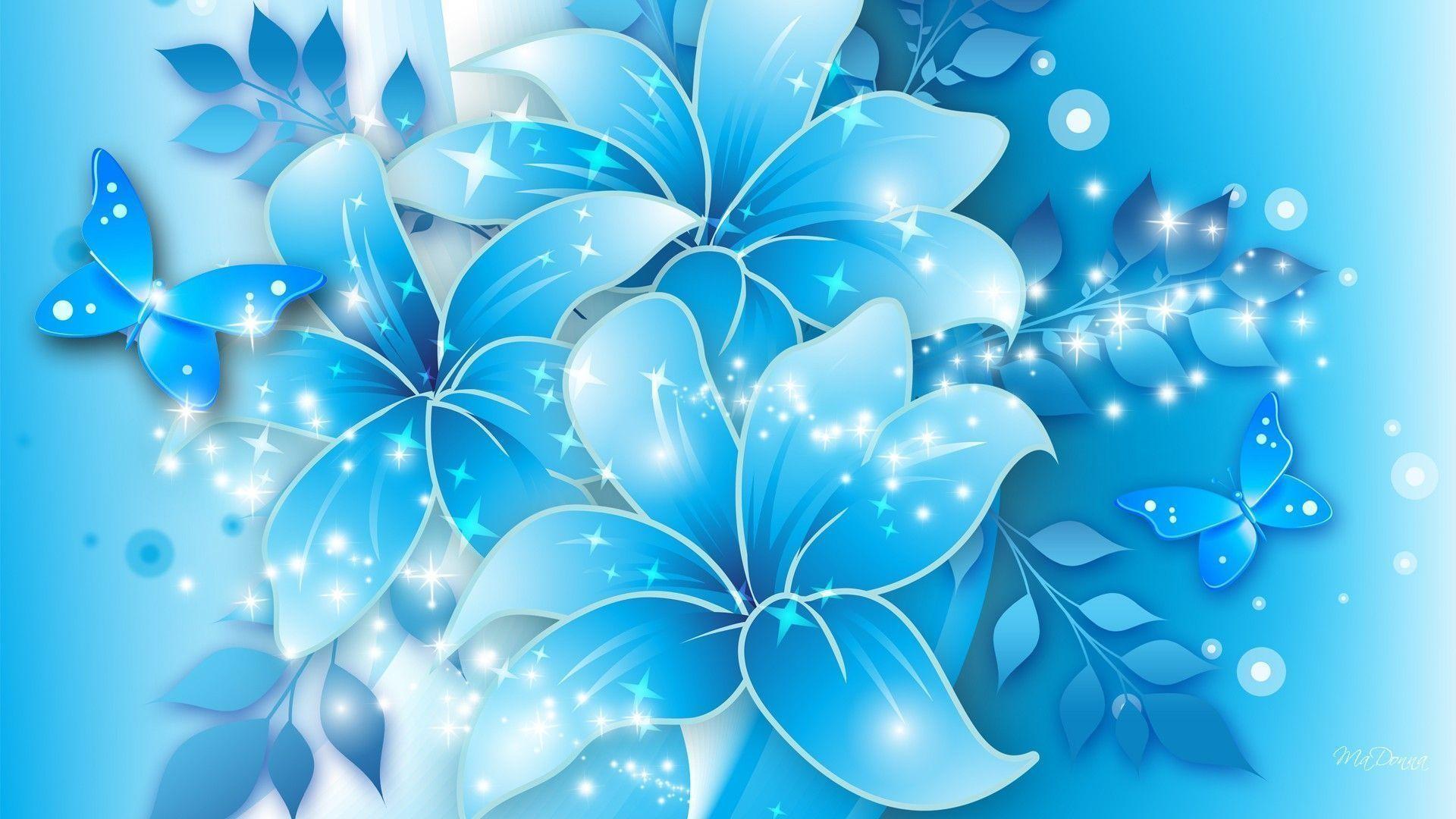 Light Blue Floral Wallpaper HD – dlwallhd.