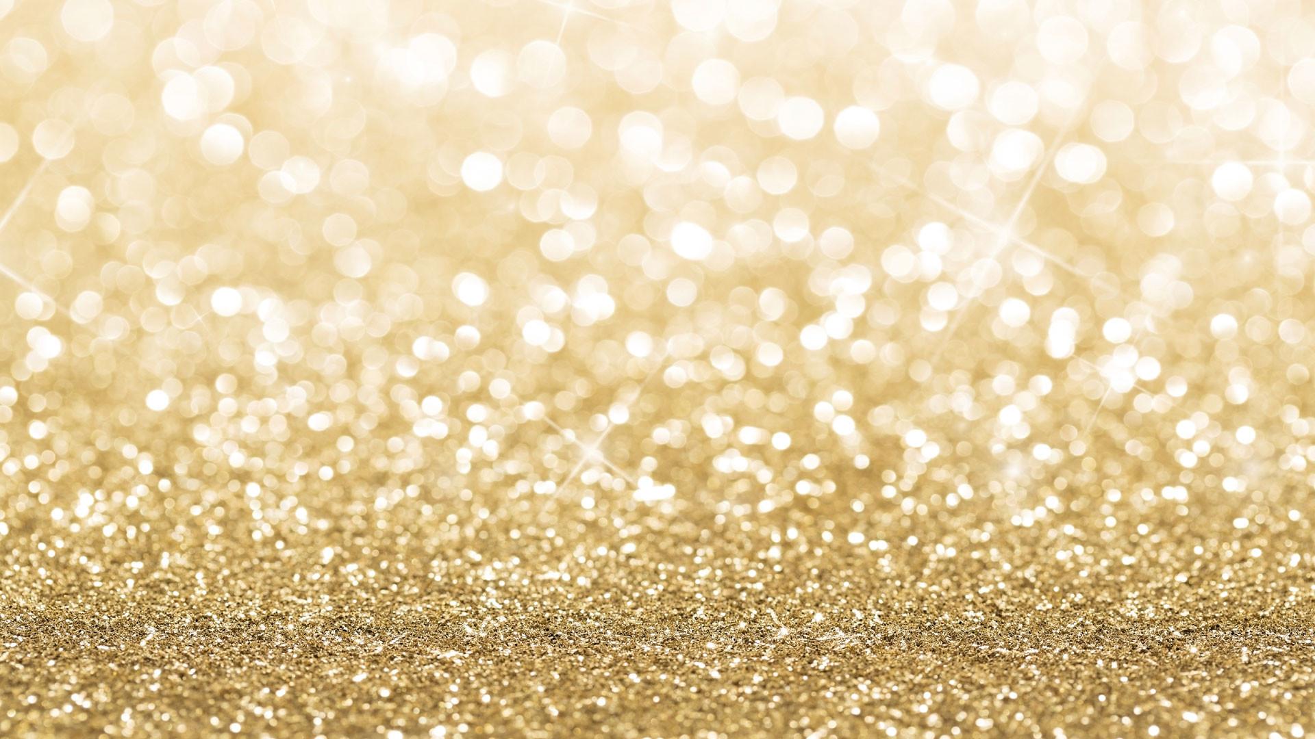 Gold Glitter Full HD Wallpaper / 1920×1080