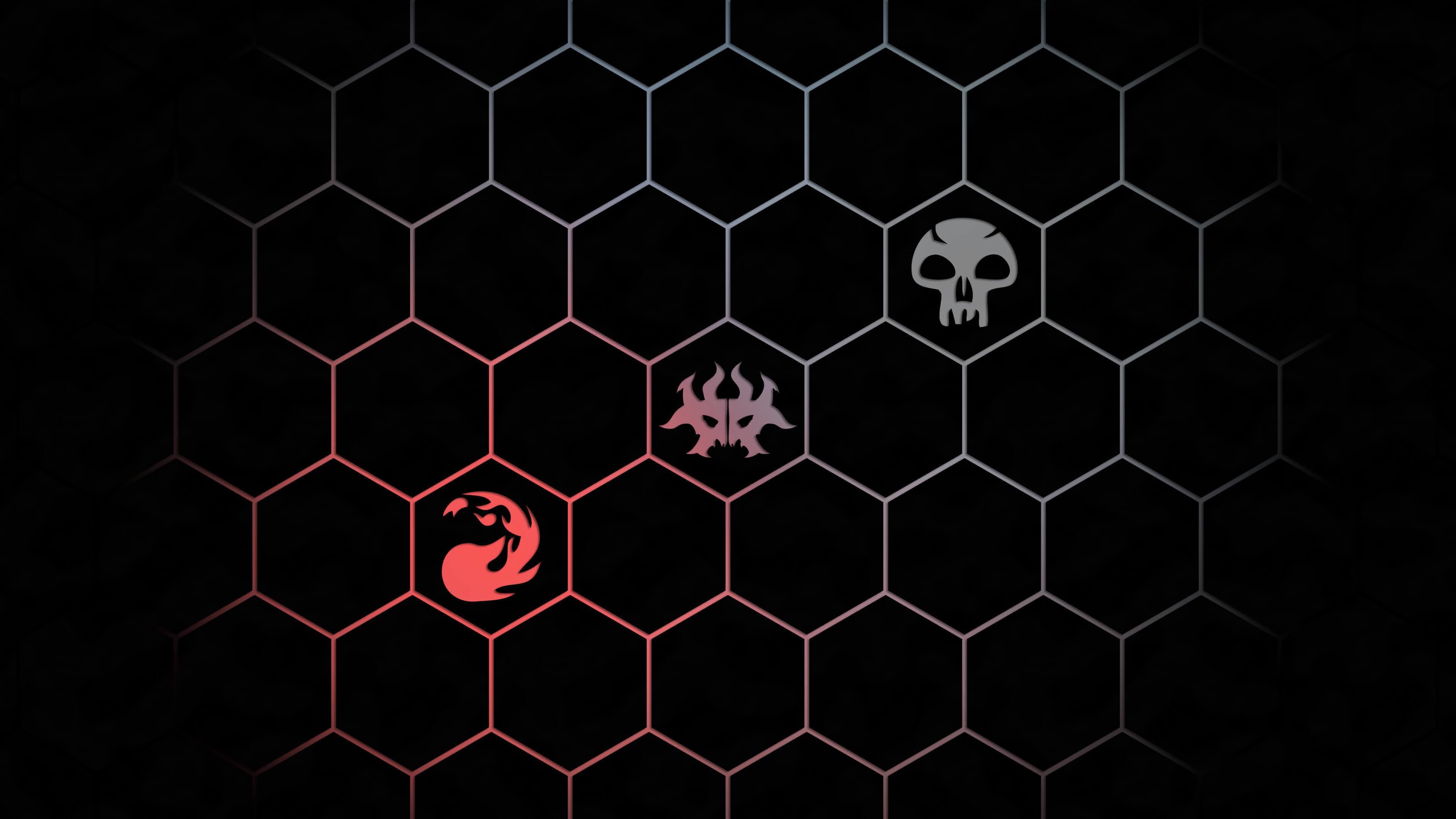 magic the gathering black mana and red mana background uhd 4k wallpaper