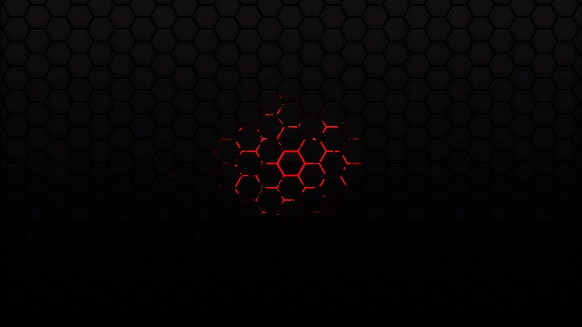 Black Background Hexagon