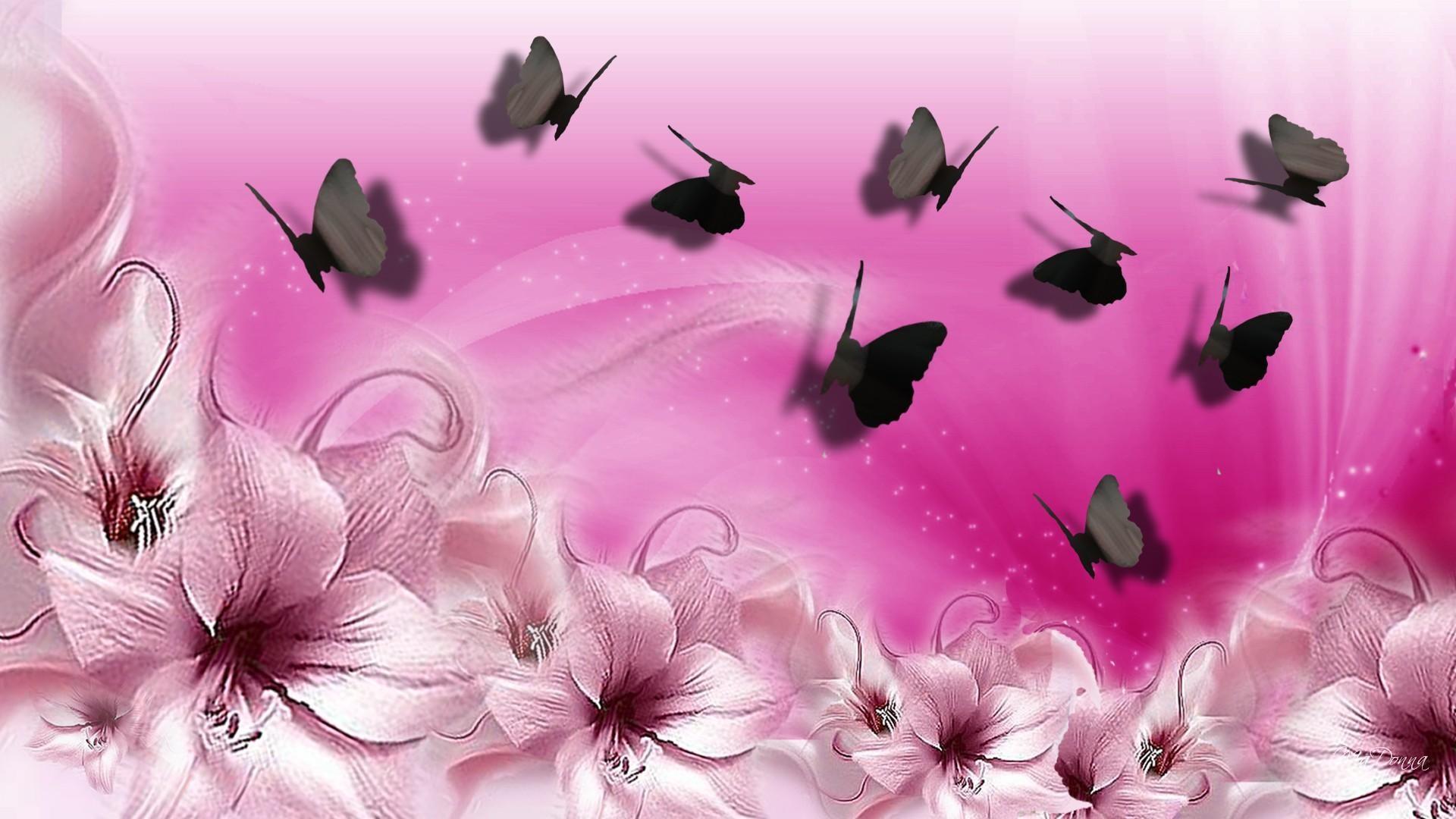 Pink Butterfly Wallpaper Desktop