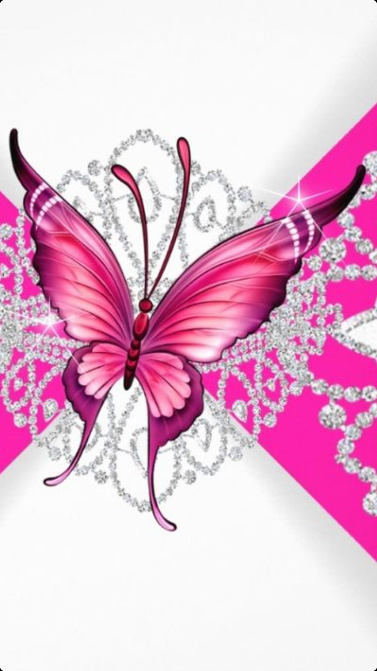 8271d4e8d276a41b09d1f375eb2bea6a.png (1242×2208). Butterfly WallpaperPink  …