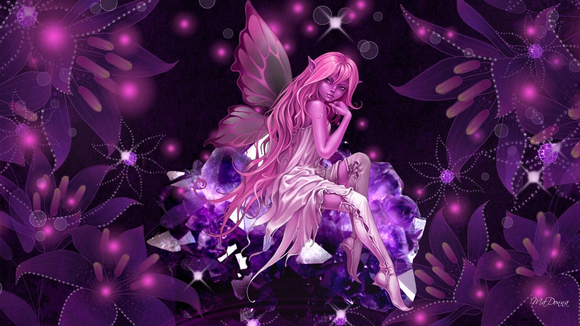 Butterfly Fairy Wallpaper   HD Pink Crystal Fairy Wallpaper