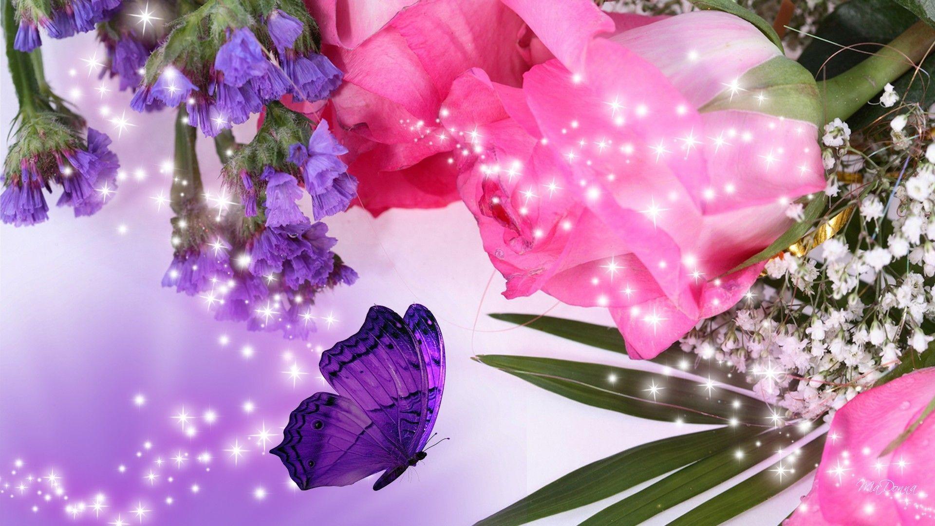 Purple Flowers Desktop Wallpaper, Purple Flower Images, New Wallpapers