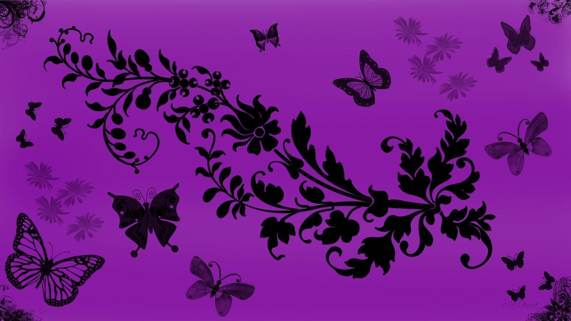 … Purple Butterfly Desktop Background Wallpaper. Download