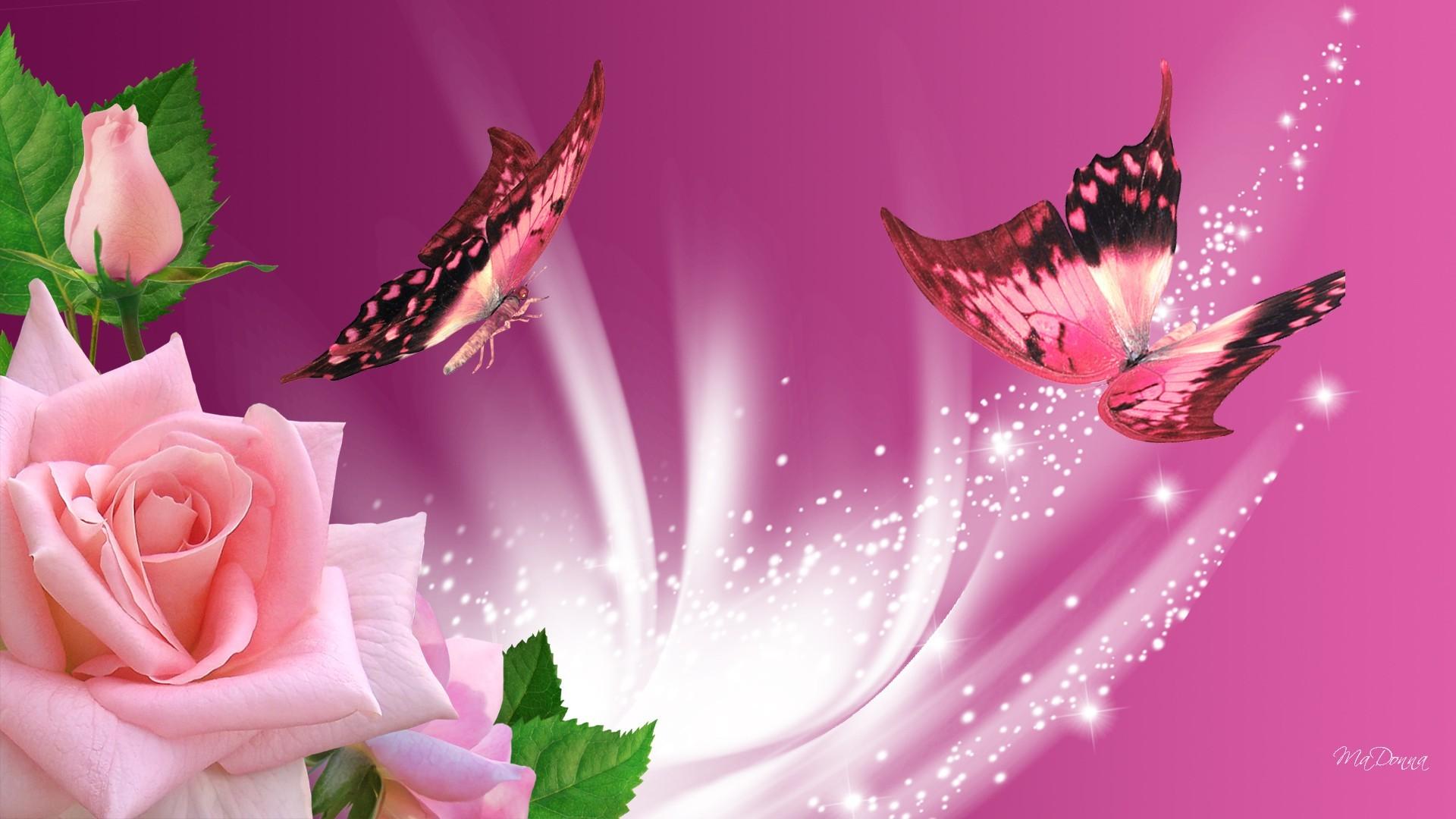Pink Butterflies Wallpaper, wallpaper, Pink Butterflies Wallpaper hd .