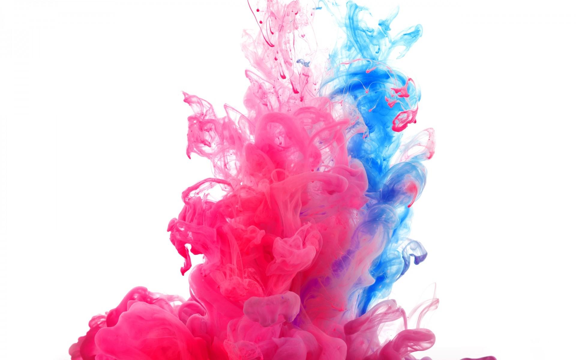Pink & Blue Smoke Rising wallpapers