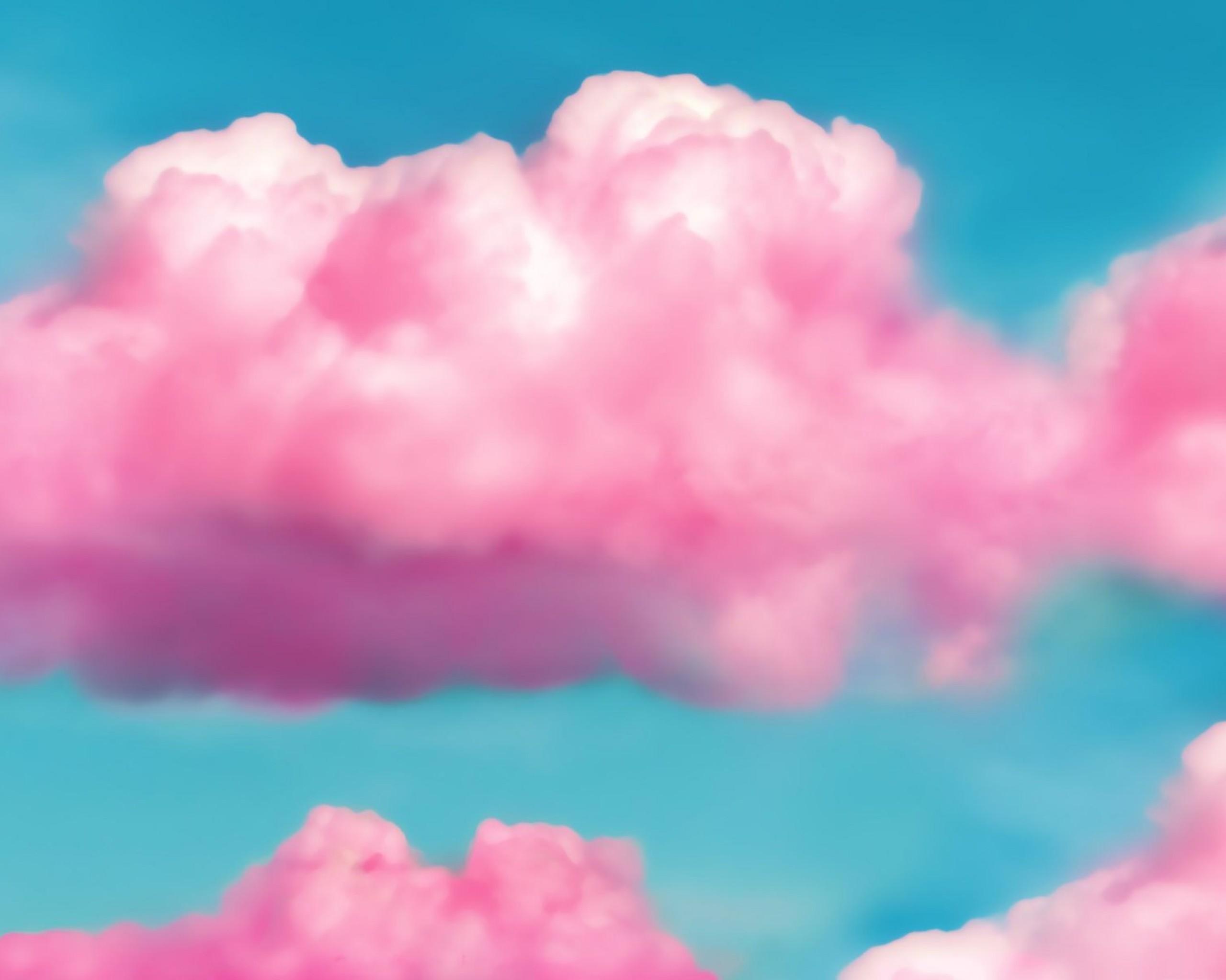 Soft Pink Cloud Wallpaper