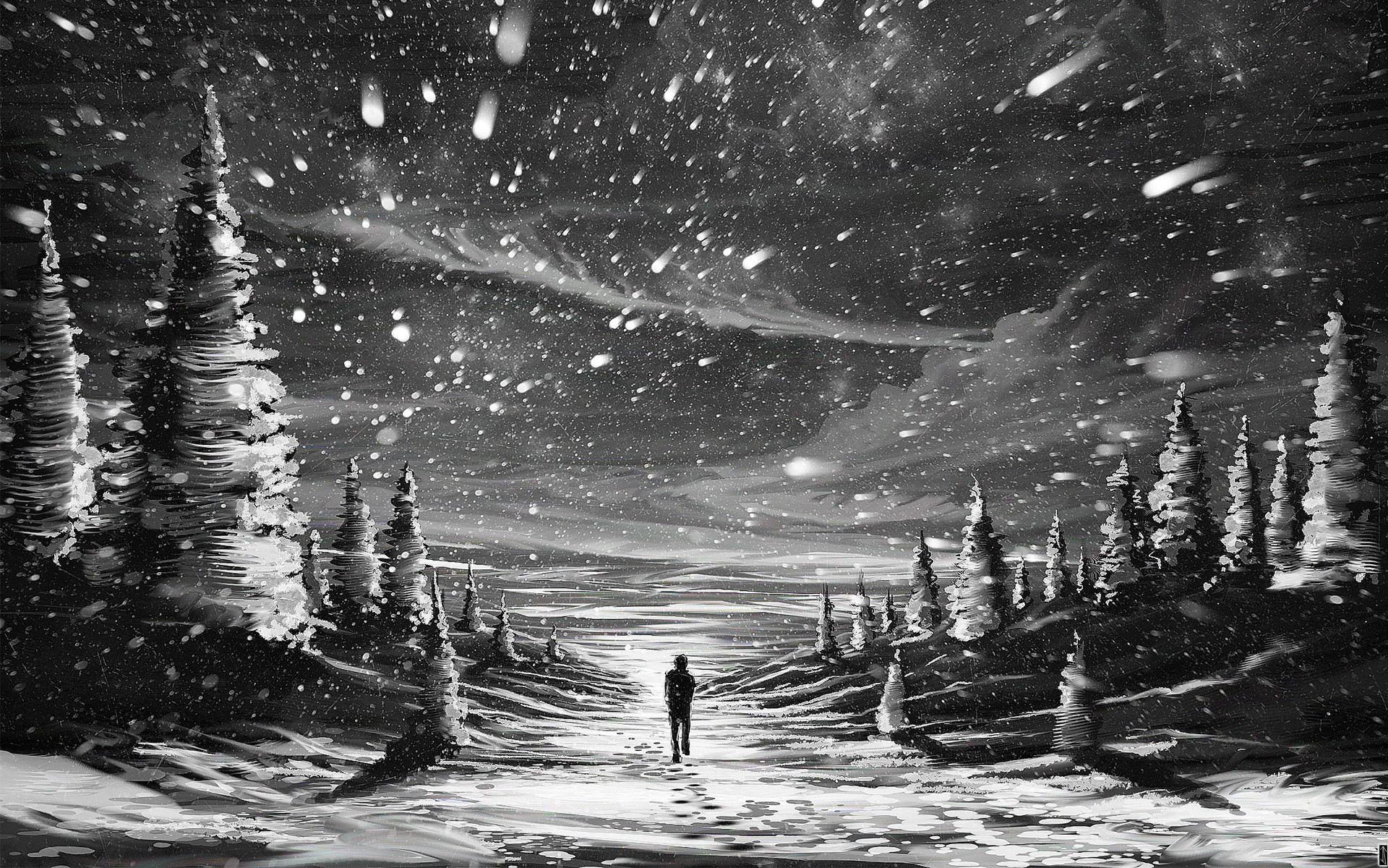 Alone in Snow wallpapers (80 Wallpapers)