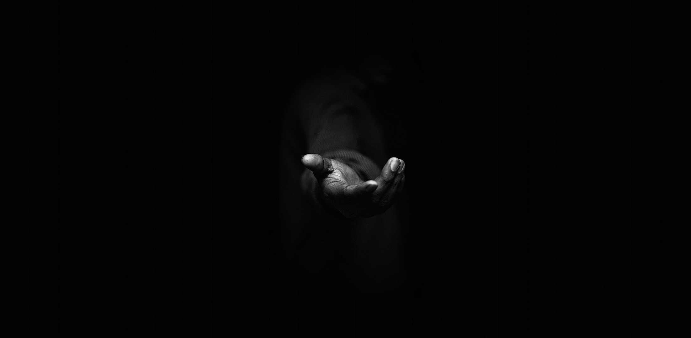 mystery man, hand, favor, black background, dark, fullscreen