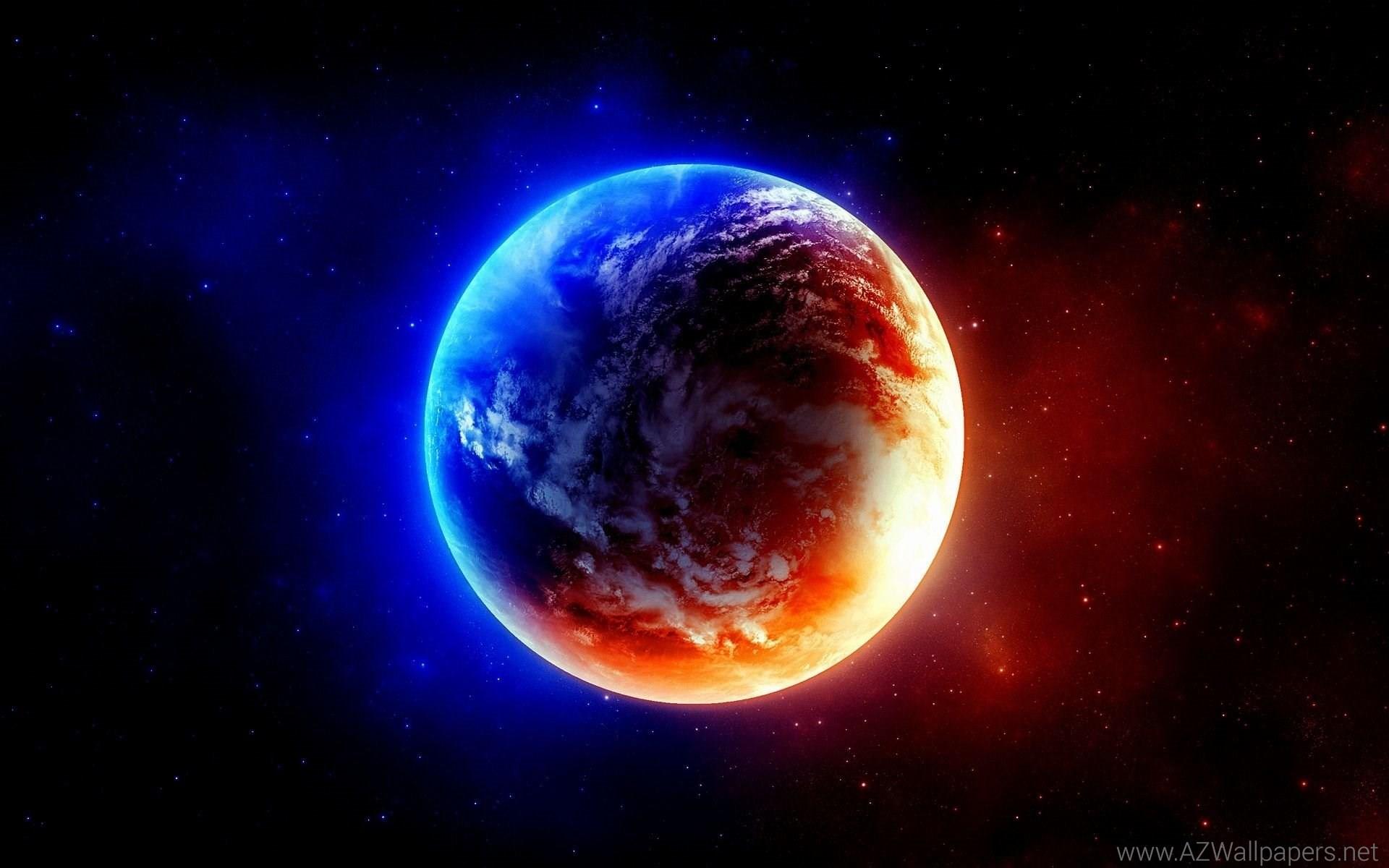 Blue Planets HD desktop wallpaper : Widescreen : High Definition .