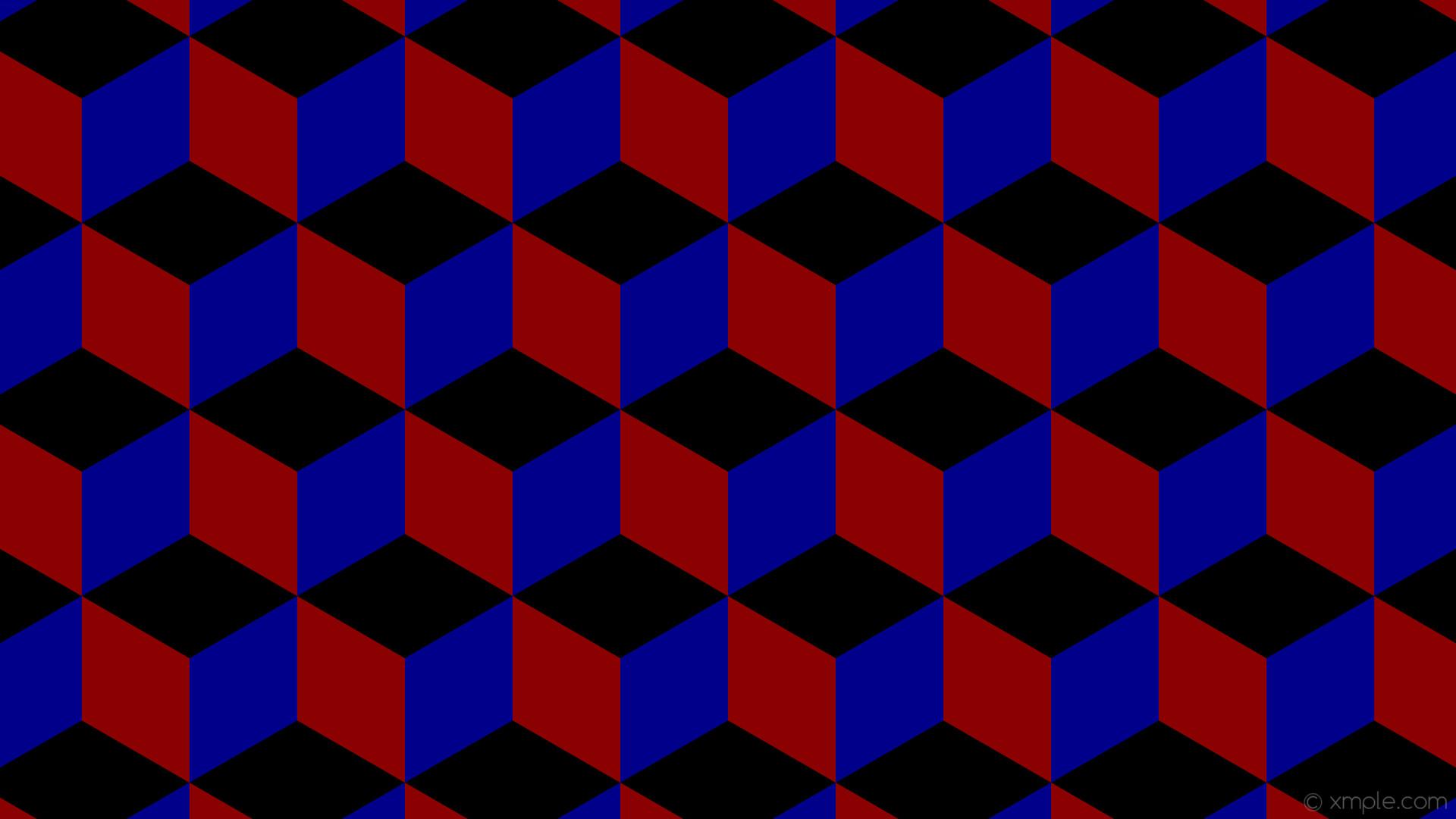 wallpaper red 3d cubes blue black dark red dark blue #000000 #8b0000 #00008b