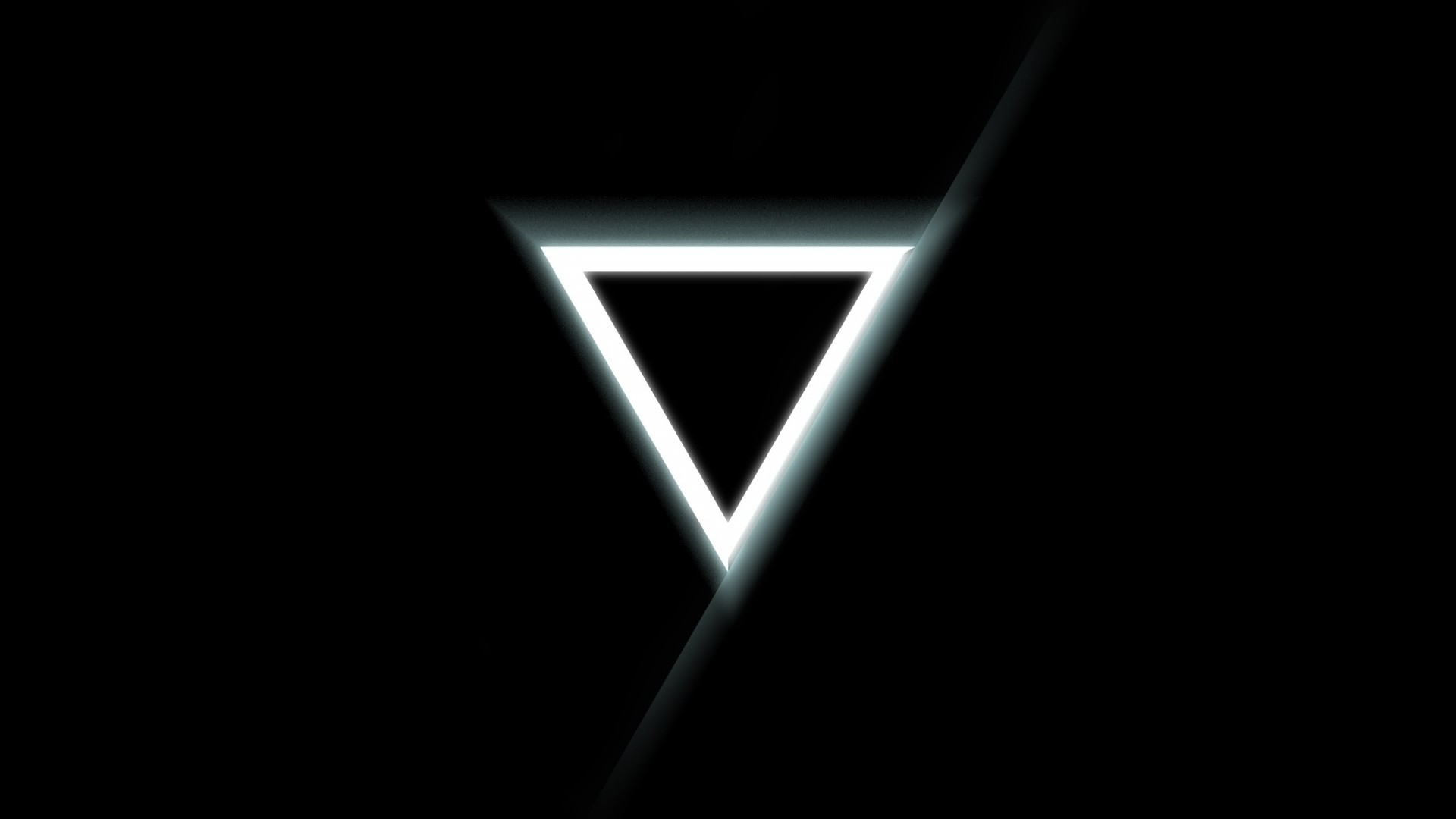Preview wallpaper triangle, inverted, black, white 1920×1080