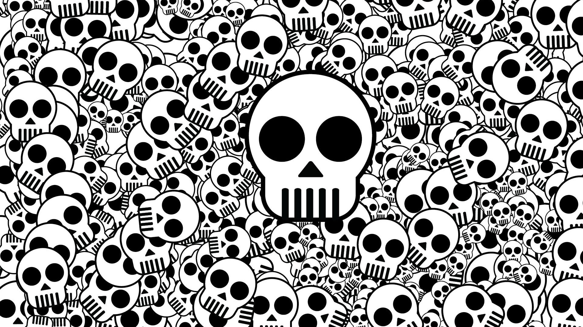 Preview wallpaper skull, texture, black white, surface 1920×1080