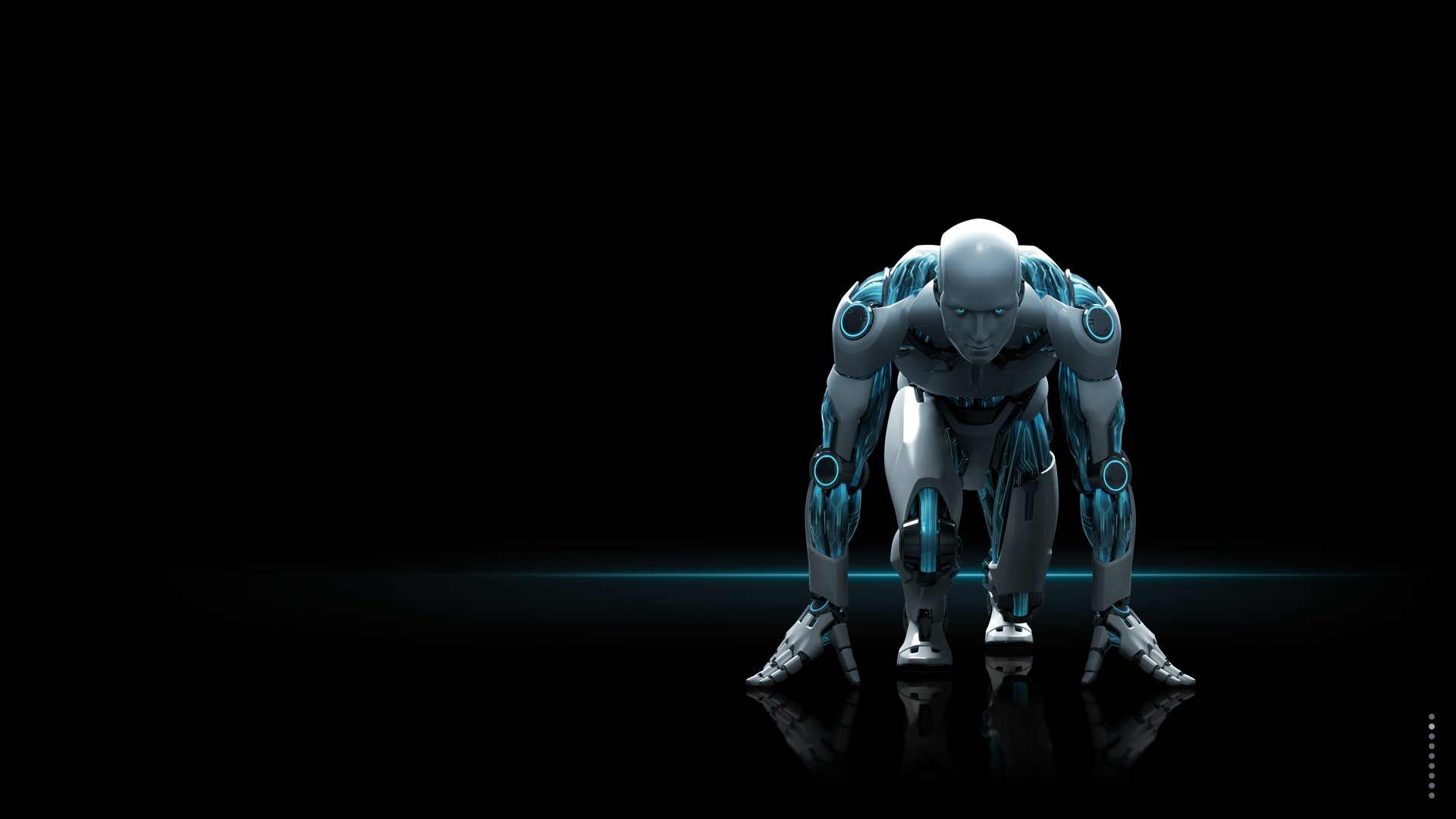 Preview wallpaper nod32, robot, black, white 1920×1080