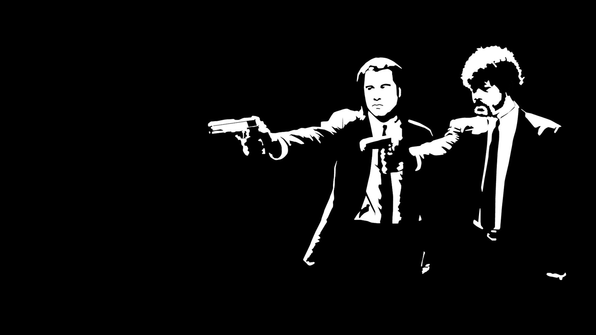 pulp fiction, killers, black