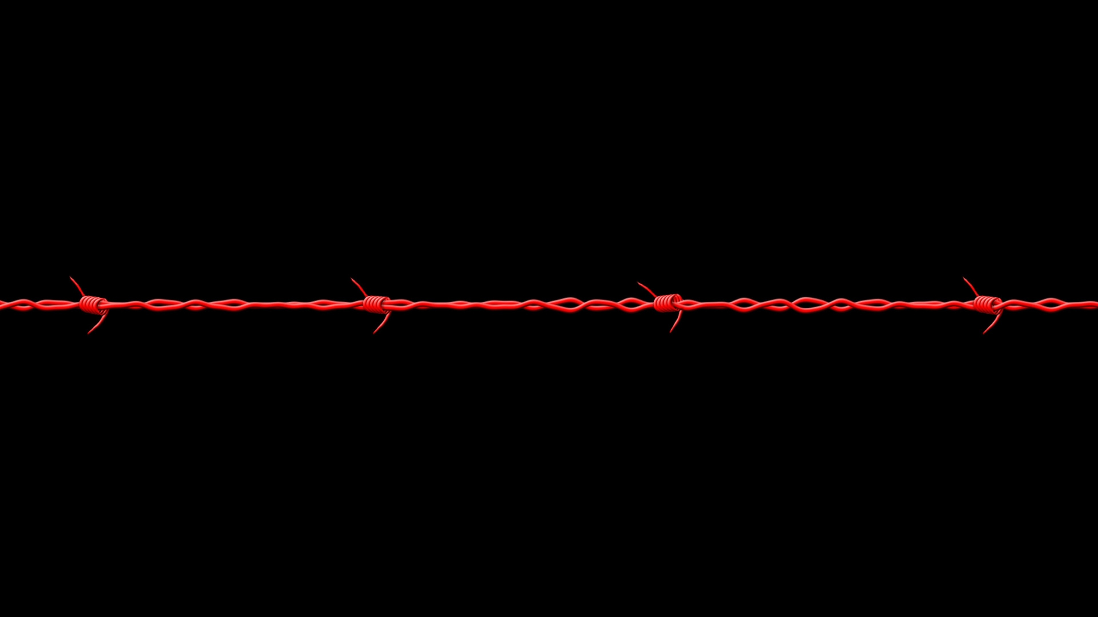 Wallpaper black, barbed wire, red