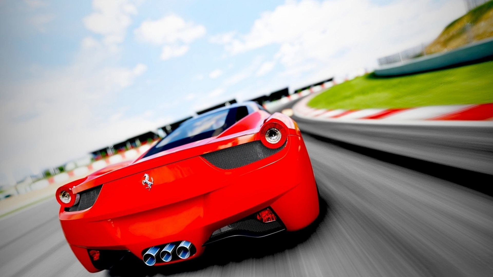 Gorgeous Red Ferrari 4k HD Wallpaper