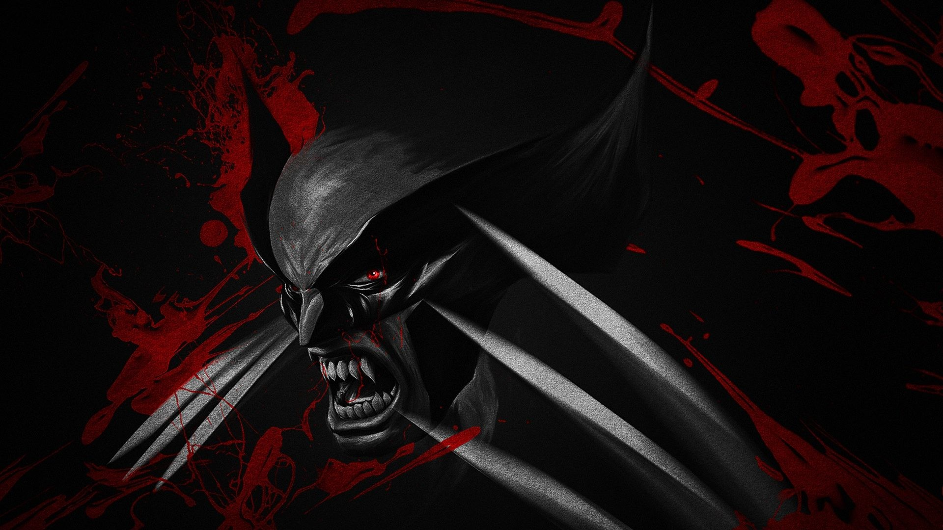 Black And Red Wolverine Copy 4K Wide Uhd Wallpaper – HD Wallpapers