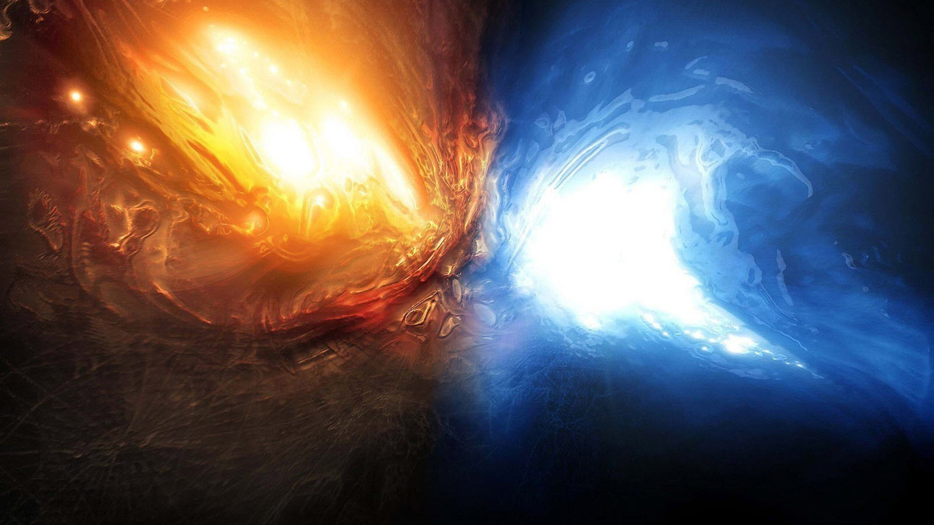 Water abstract blue red fire Earth artwork wallpaper | .