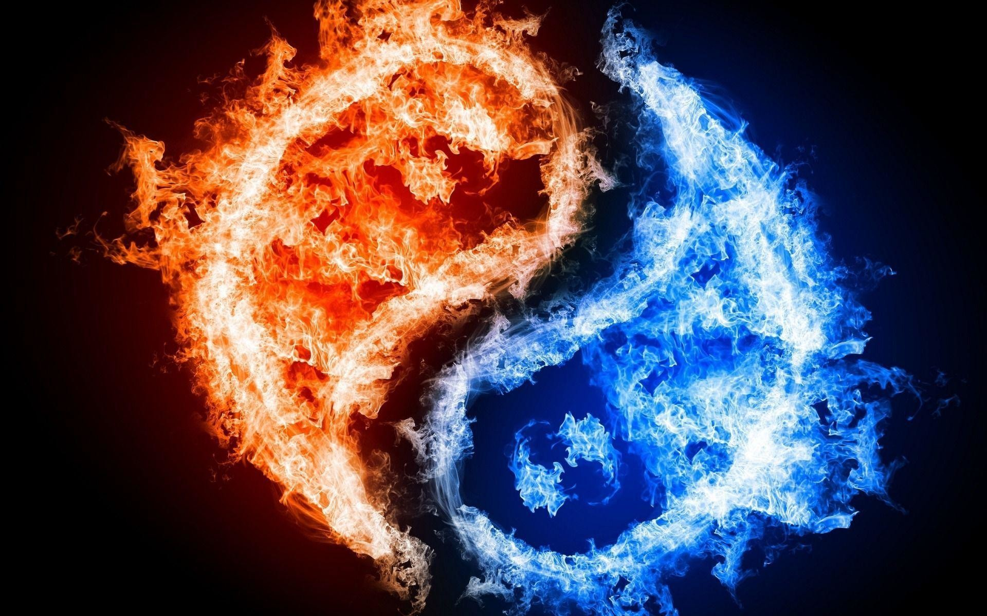 Blue and Red Fire Wallpaper, wallpaper, Blue and Red Fire .
