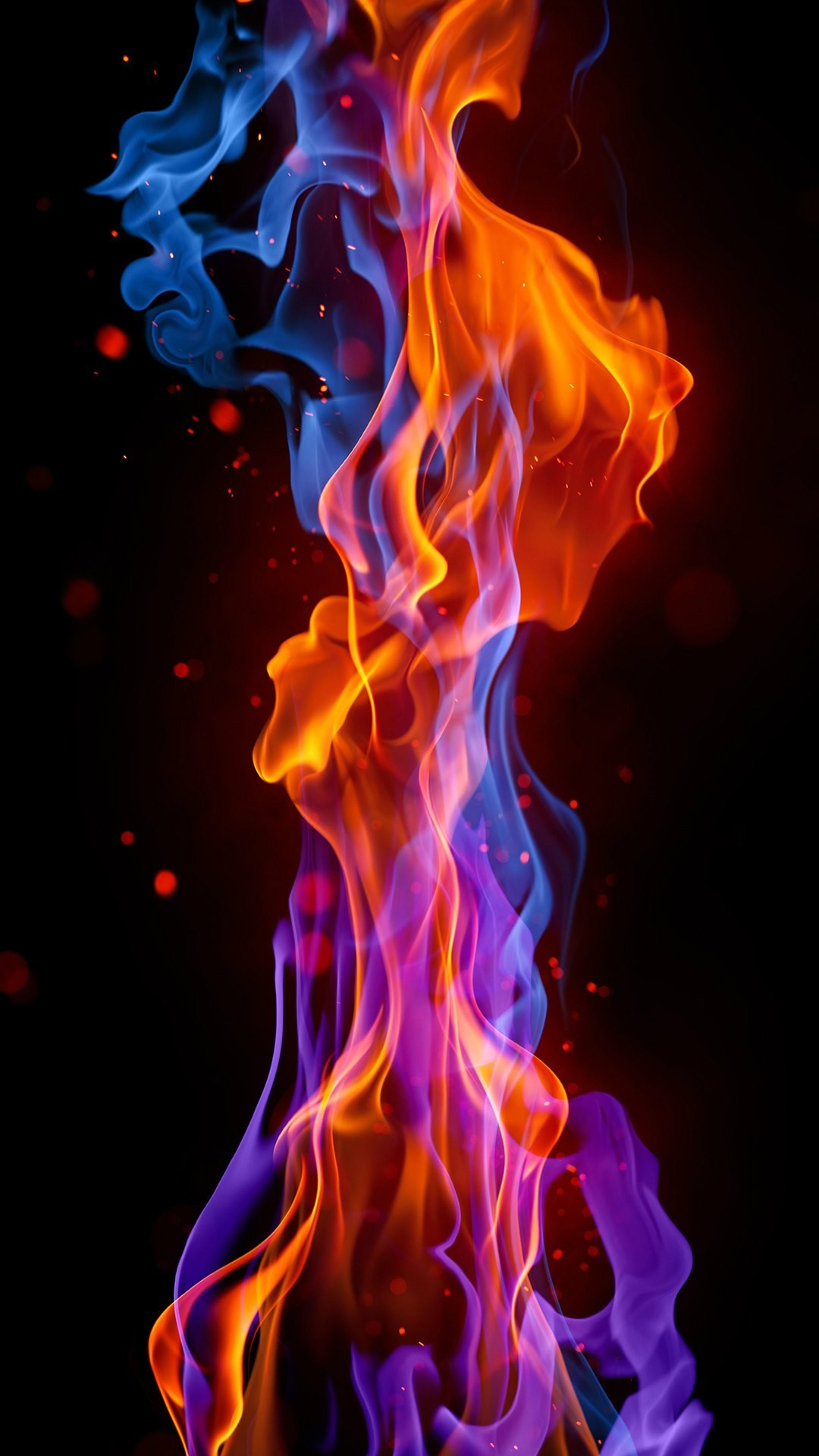 blue red fire 1080×1920
