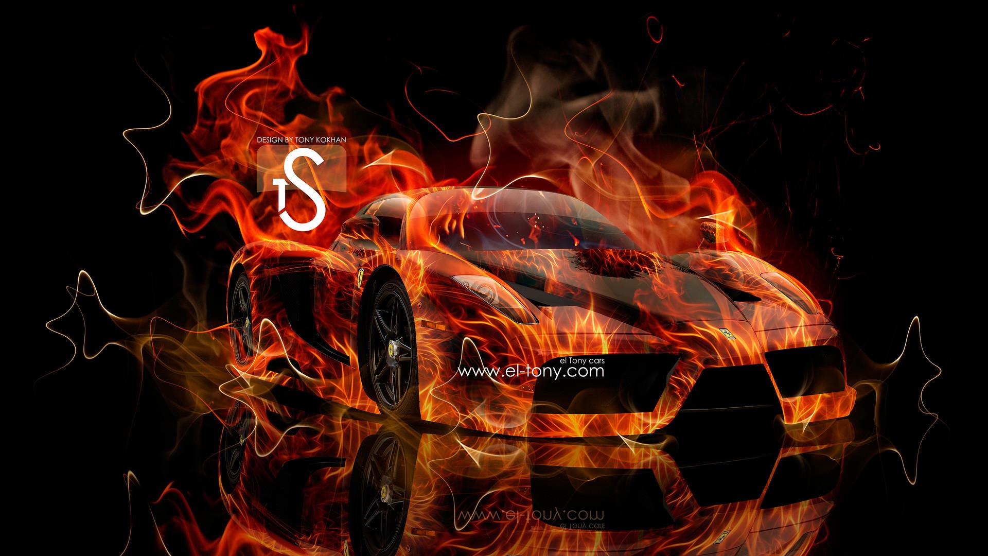 Ferrari-Enzo-Fire-Car-2013-Abstract-Smoke-HD-