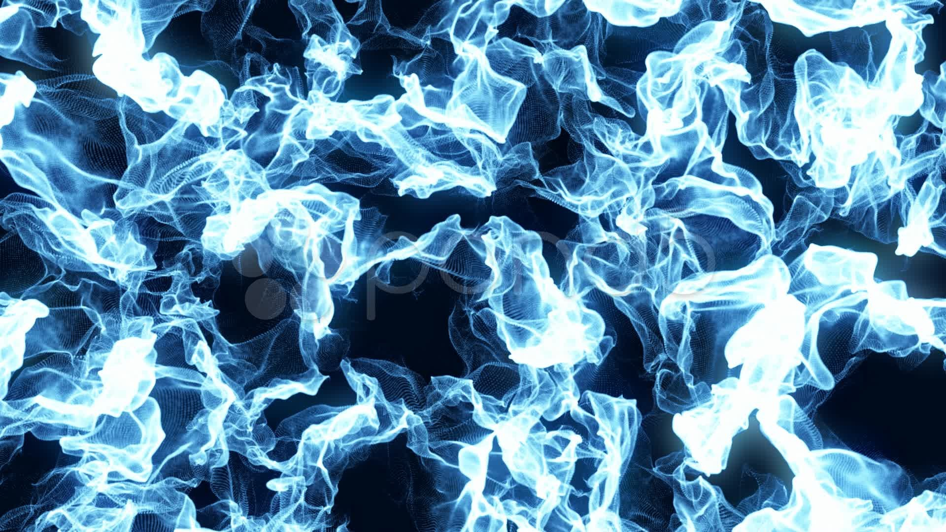 Abstract Blue Fire Nexus Background Loop Stock Video 22415609 | HD .