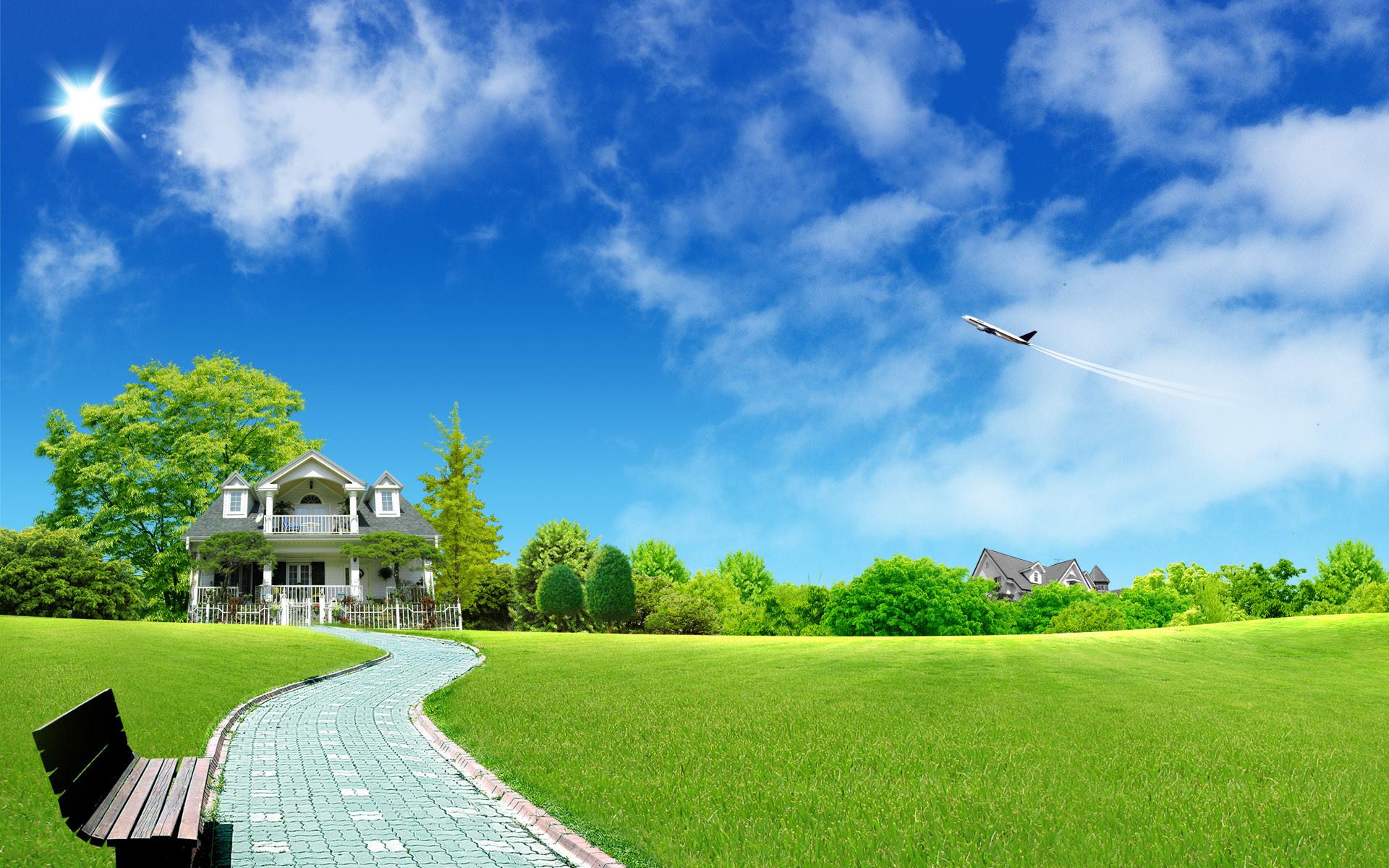 green-garden-hd-wallpaper