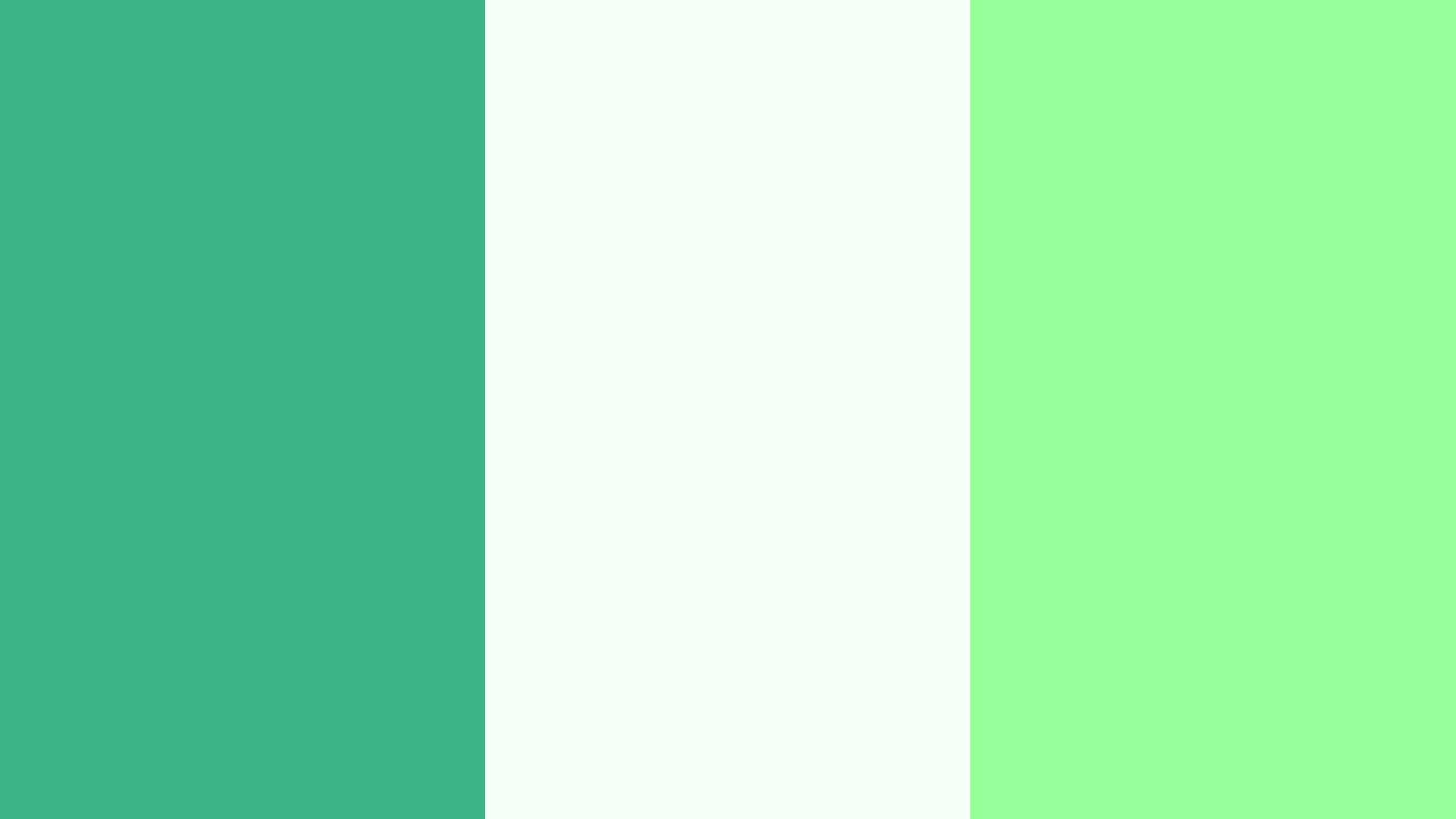 Mint, Mint Cream and Mint Green Three Color Background