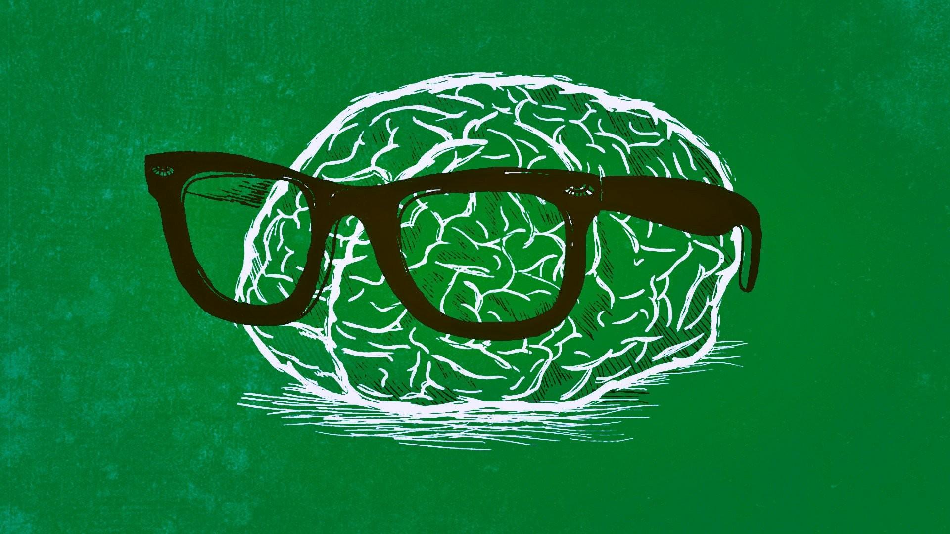 Humor – Nerd Brain Green Wallpaper