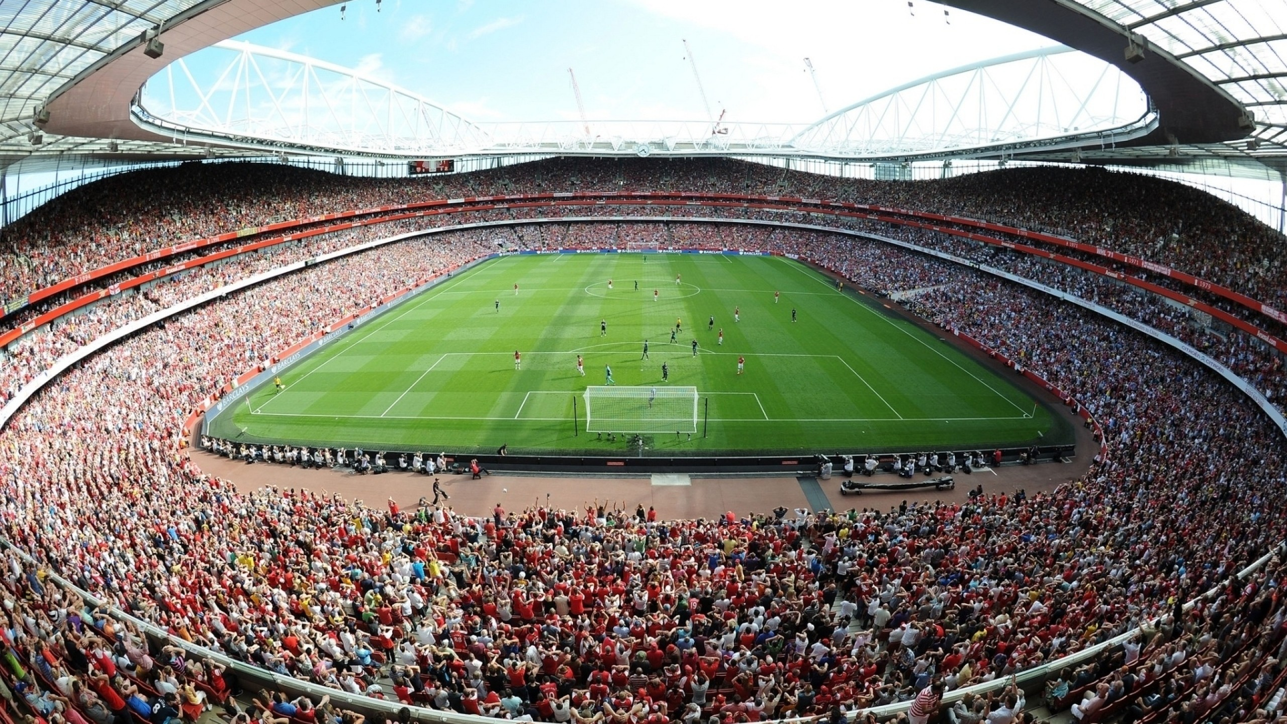 Wallpaper emirates stadium, stadium, emirates, field