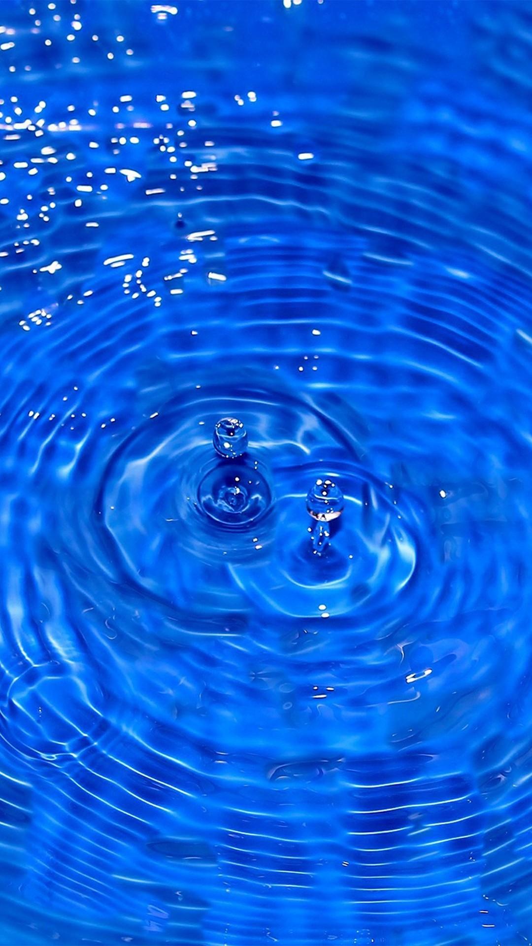 Water Cool Blue Drop Swim #iPhone #6 plus #wallpaper