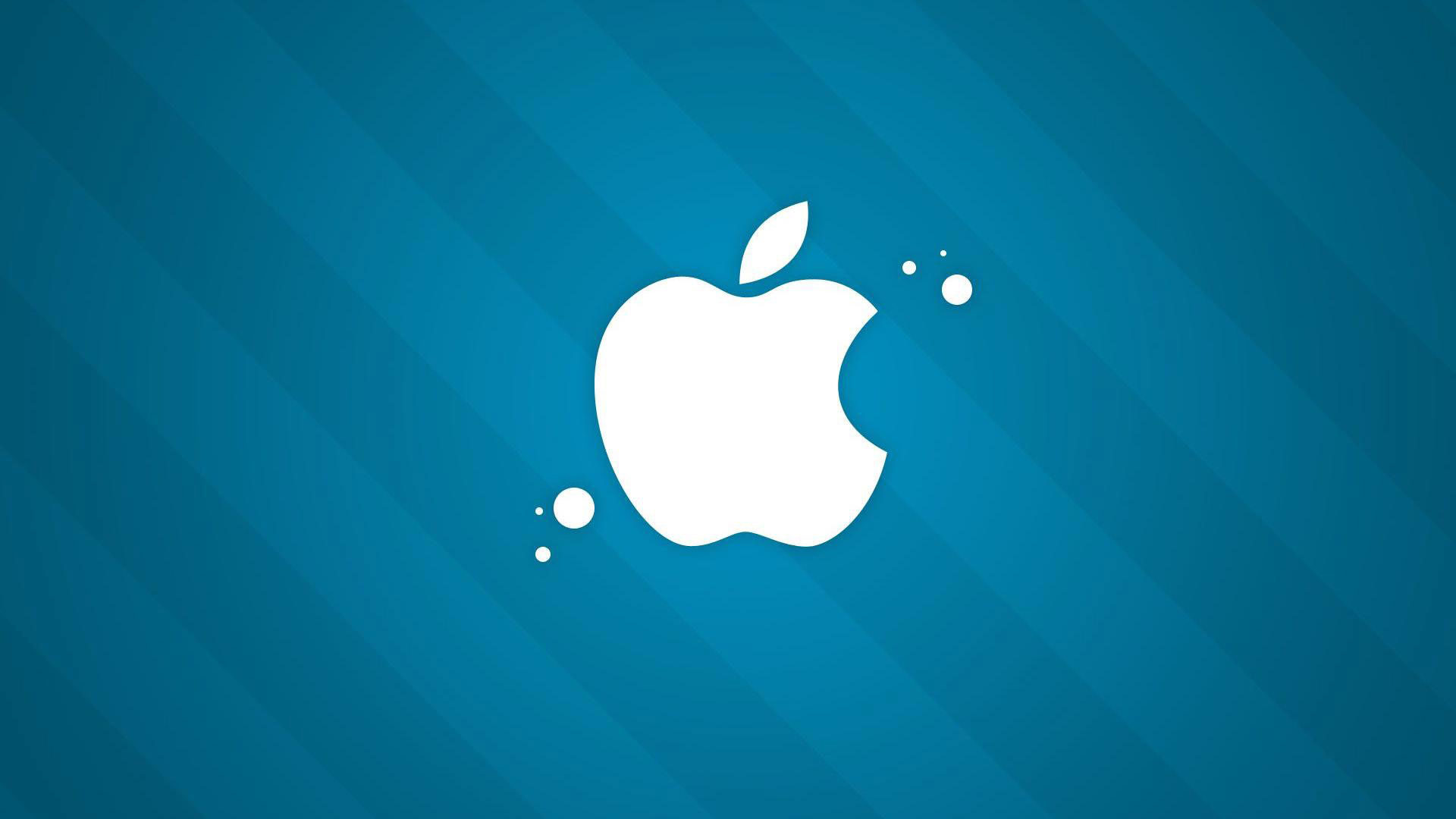 hd pics photos cool blue white apple logo hd quality desktop background  wallpaper