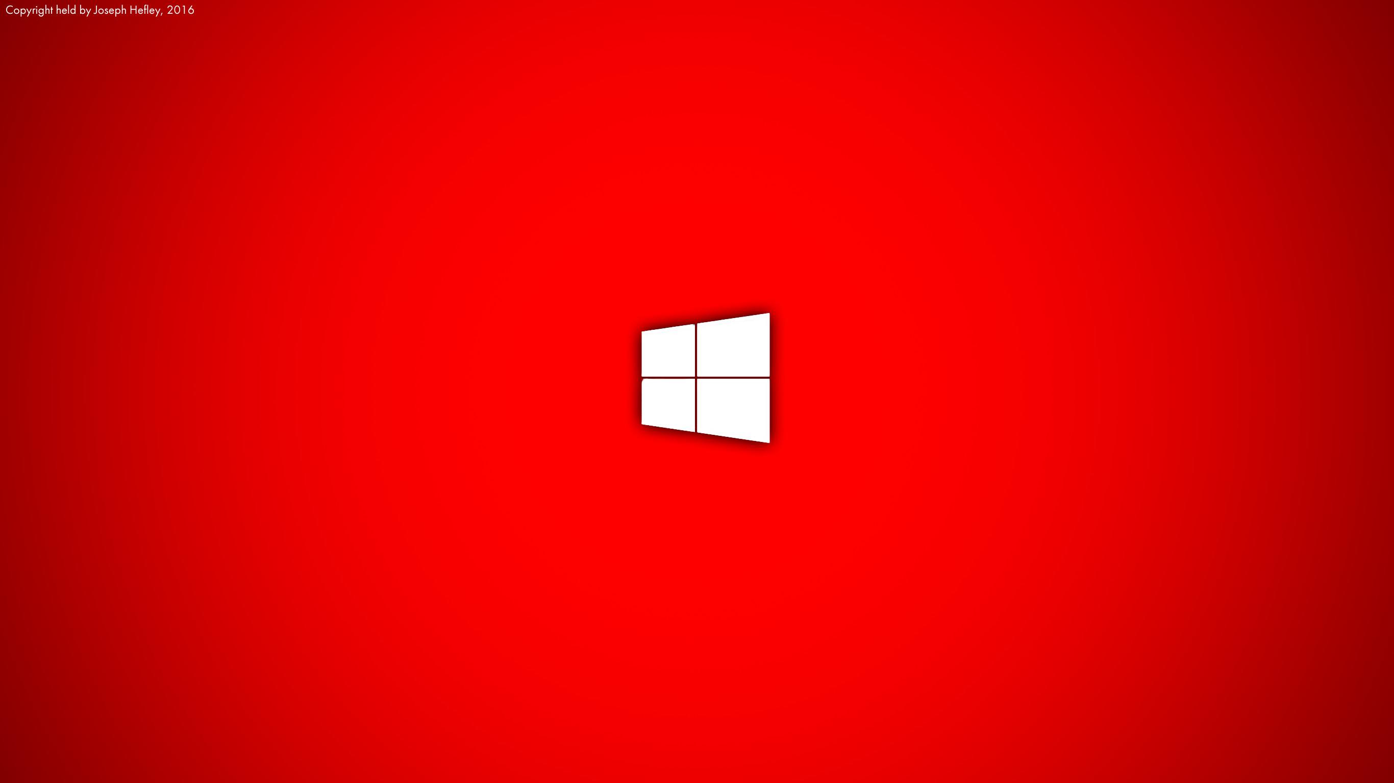 Live Red Windows 10 Wallpaper