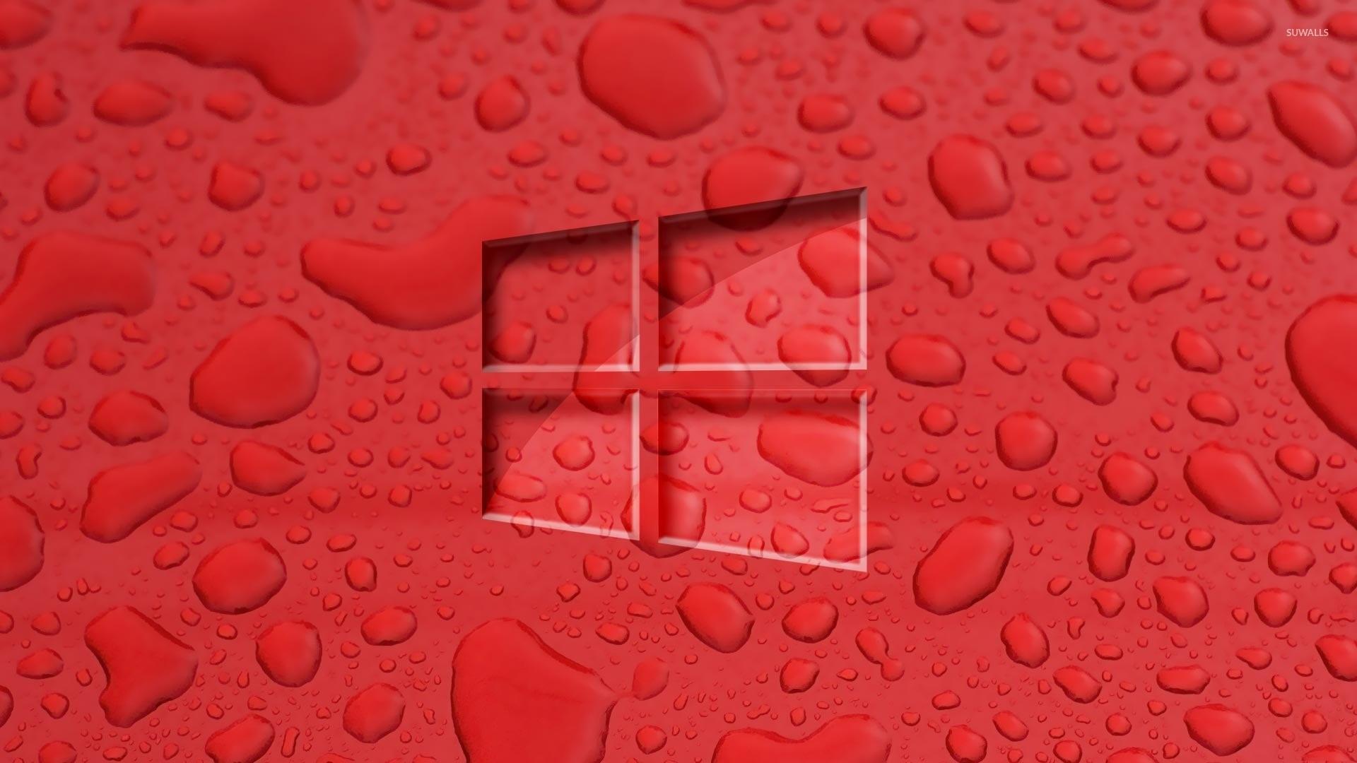 Windows 10 on water drops [2] wallpaper jpg