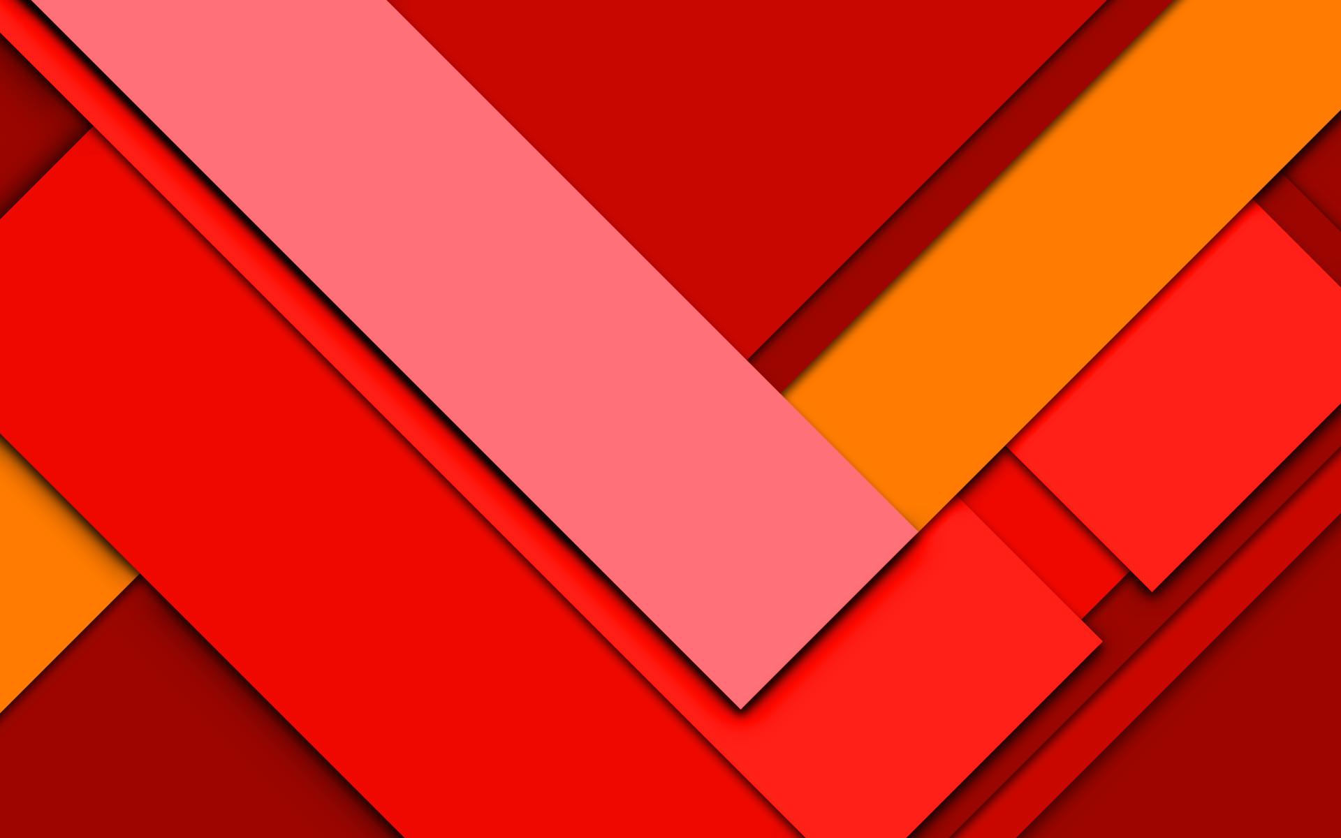 Material Design Wallpaper Red Mix