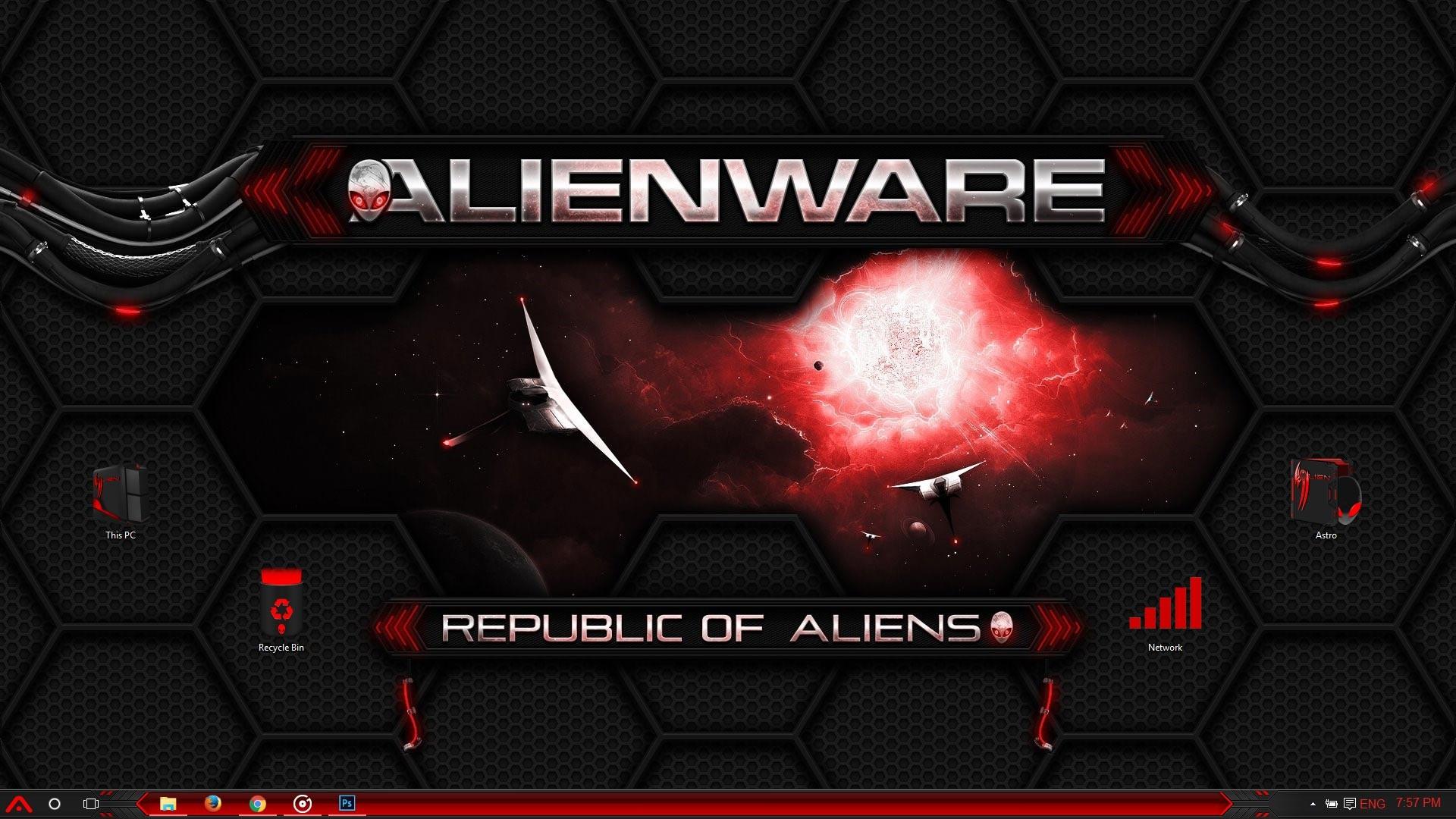 Alienware (Red) Windows 10 Theme