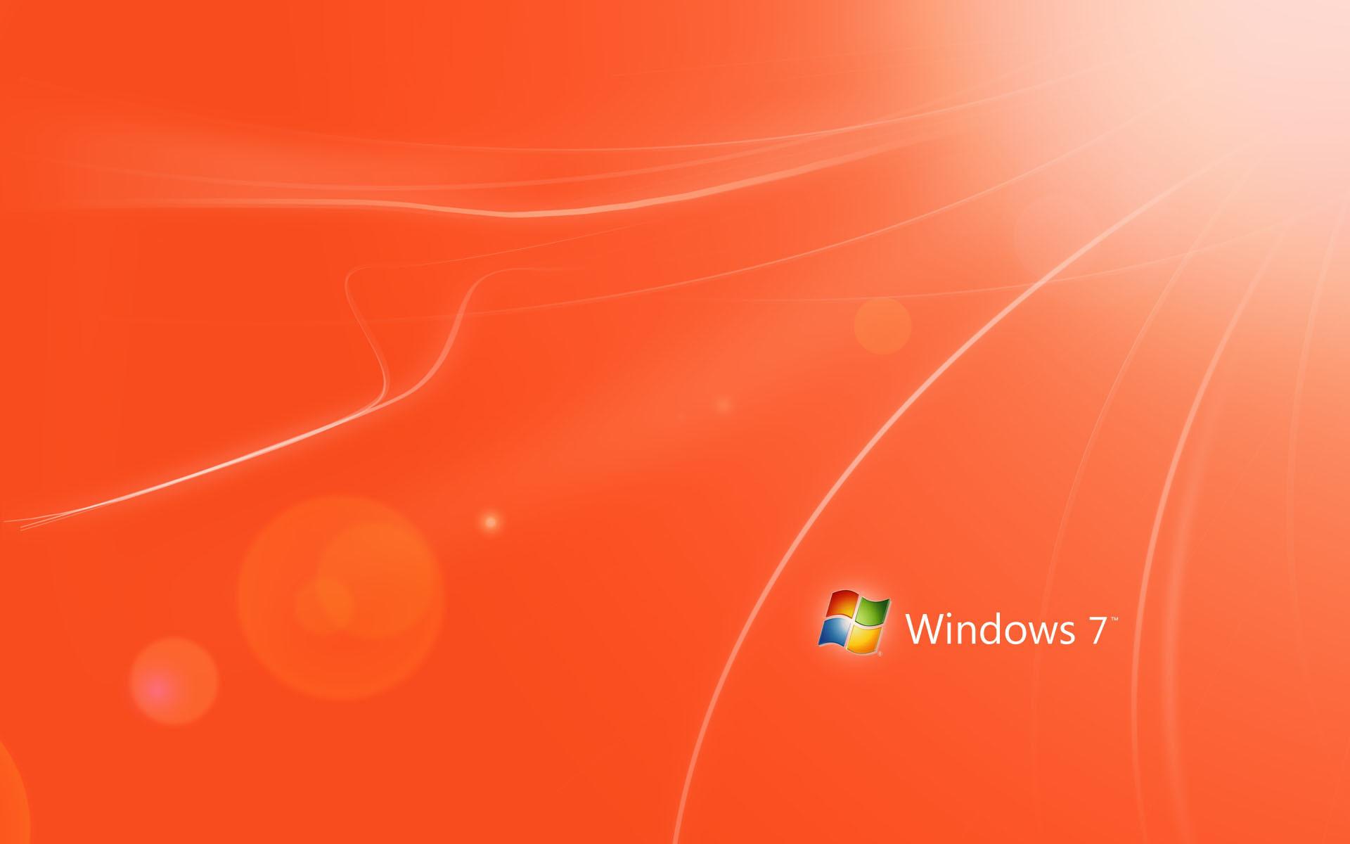 Orange Windows 7 Wallpapers   HD Wallpapers