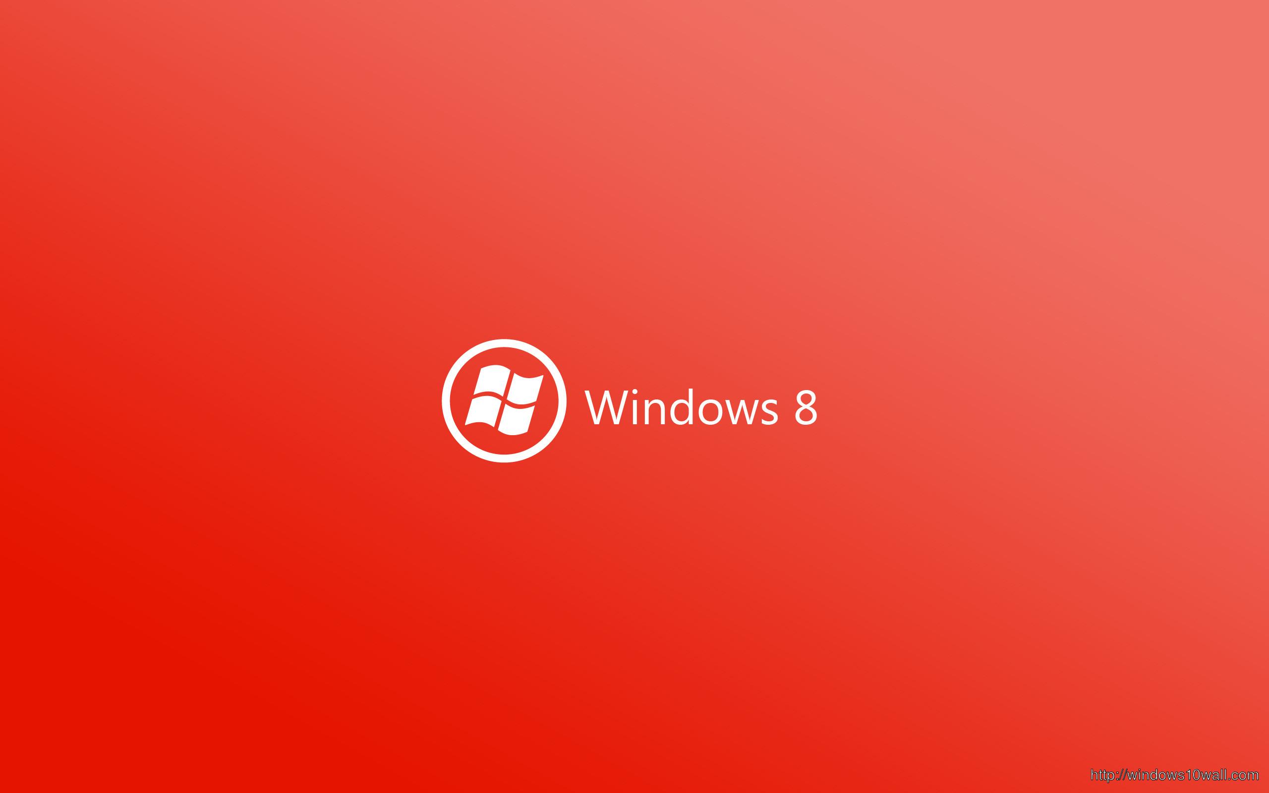 Windows 8 Wallpaper Red