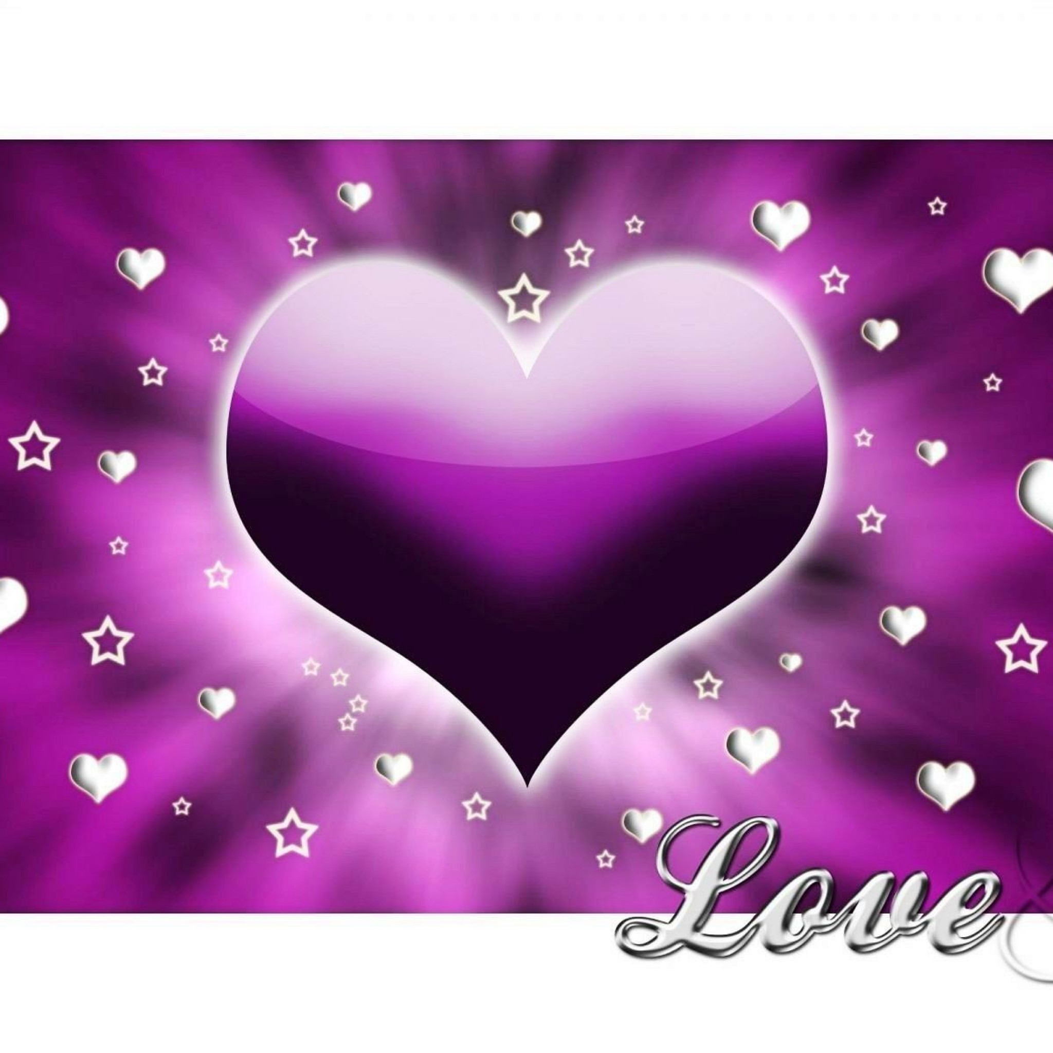 Heart Purple White Love Image Wallpaper #13821 Wallpaper computer | best  website wallpaperput.com