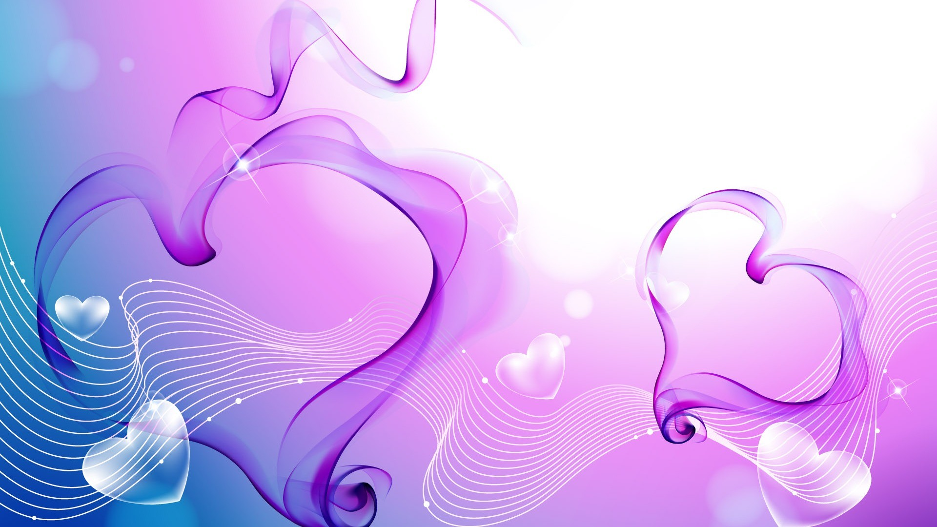 Cool Backgrounds with Abstract Love Shape in Purple