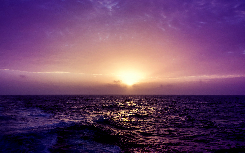 Purple Sea Sunset. Â«