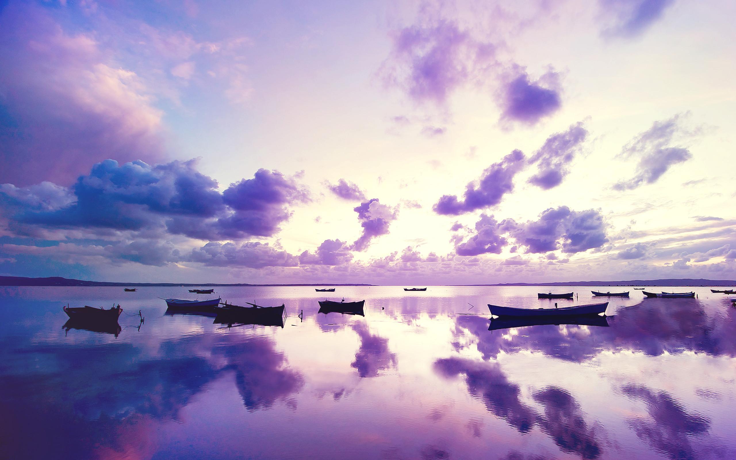 Purple Sunset in Ocean
