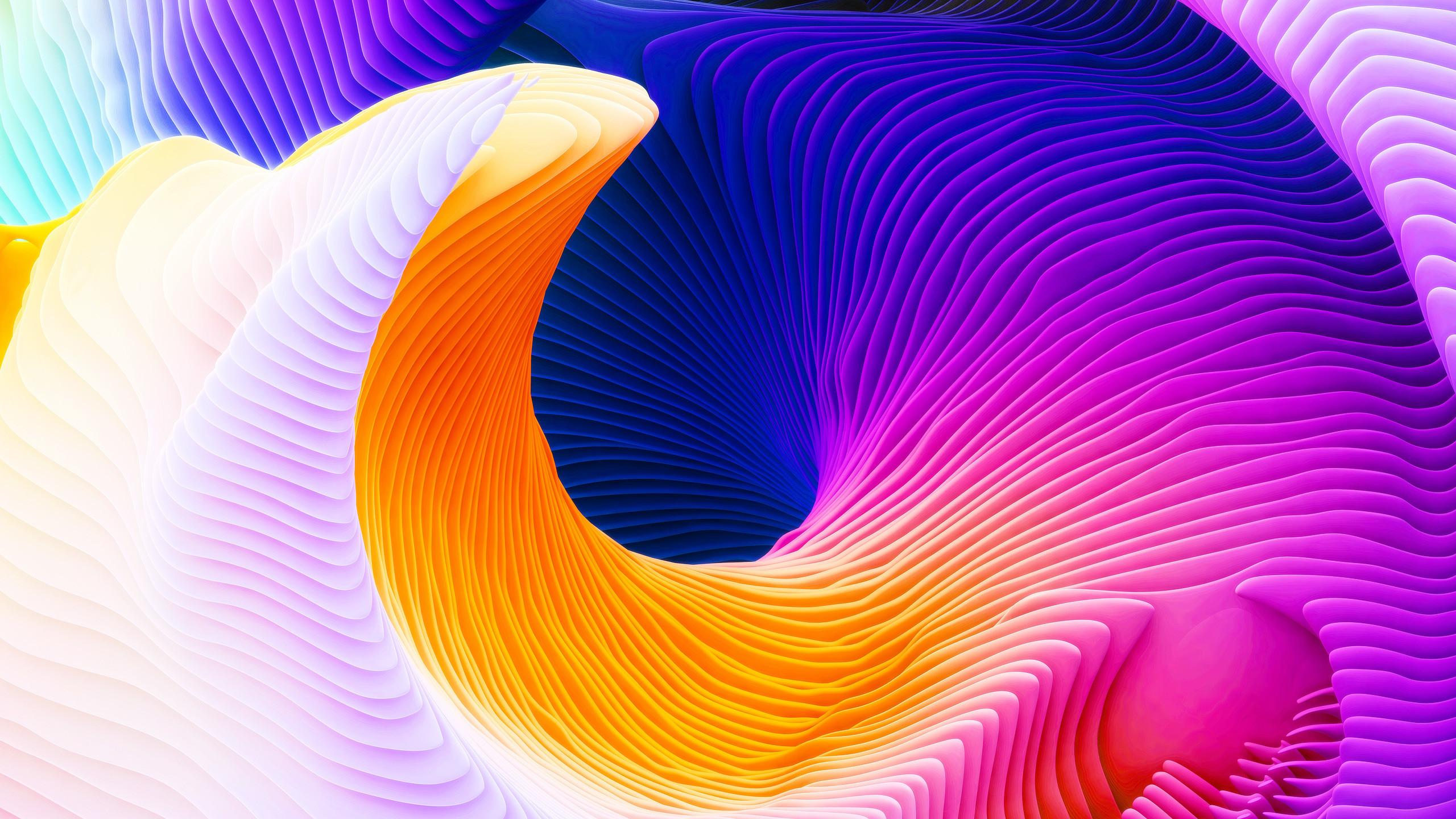 Abstract / Spiral Wallpaper. Spiral, Yellow, Purple, HD