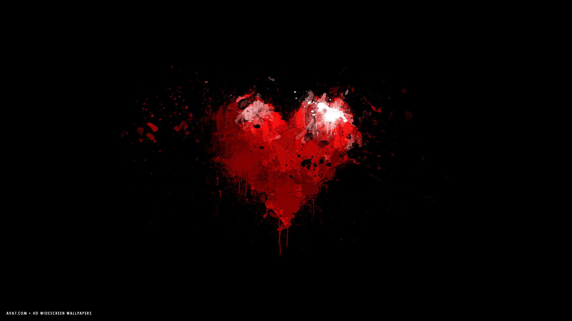 heart minimalistic red artistic symbol red grunge paint hd widescreen  wallpaper