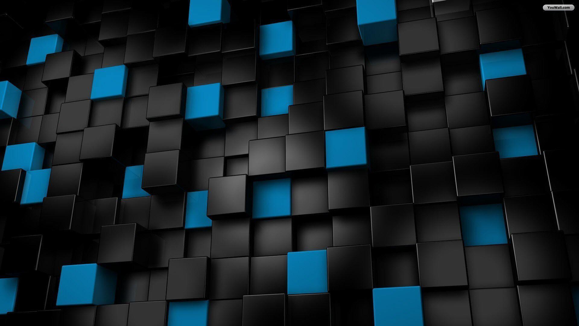 Wallpapers For > Black And Blue Wallpaper Desktop